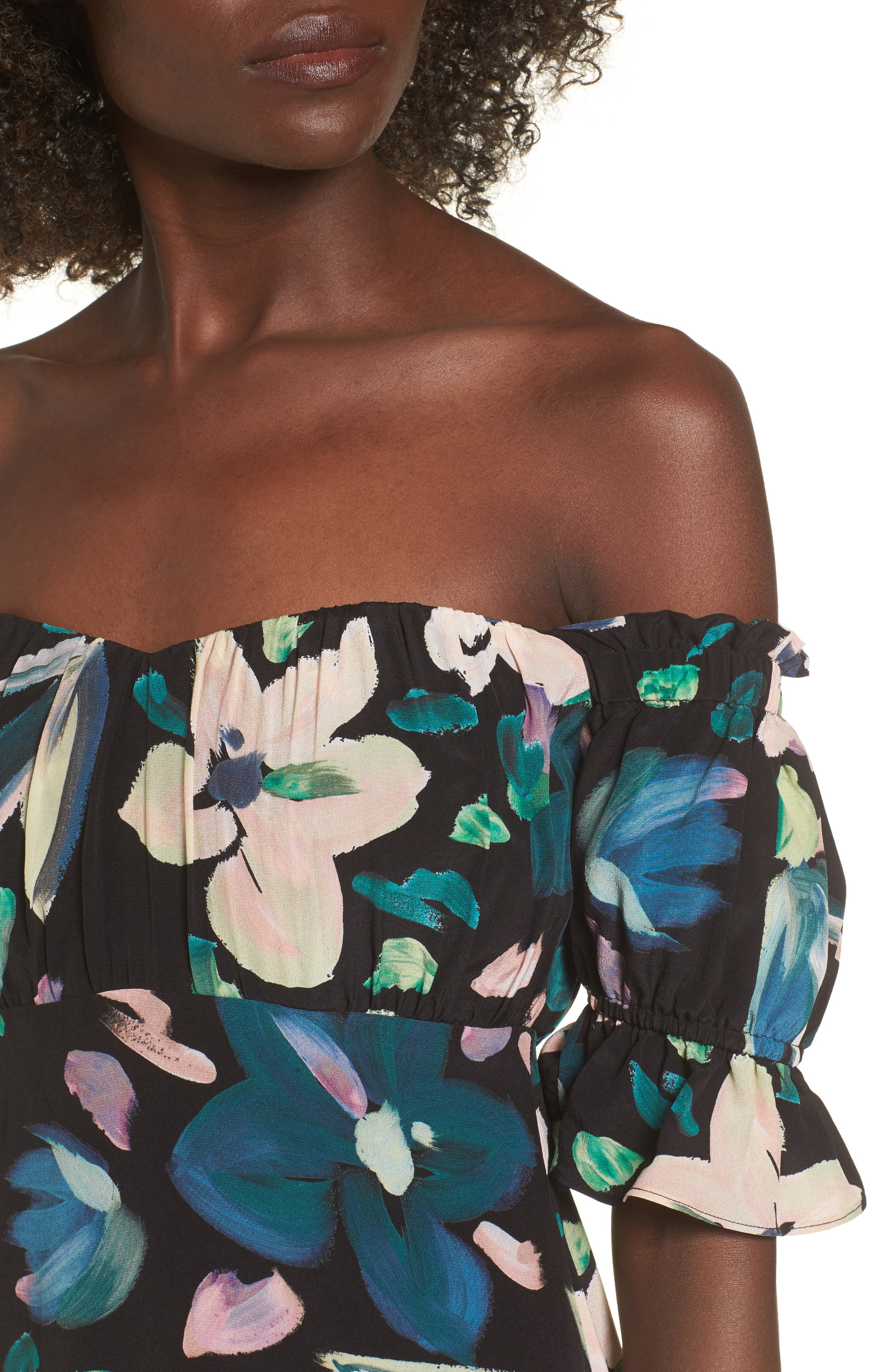 Alternate Image 4  - Stone Cold Fox Flores Off the Shoulder Midi Dress