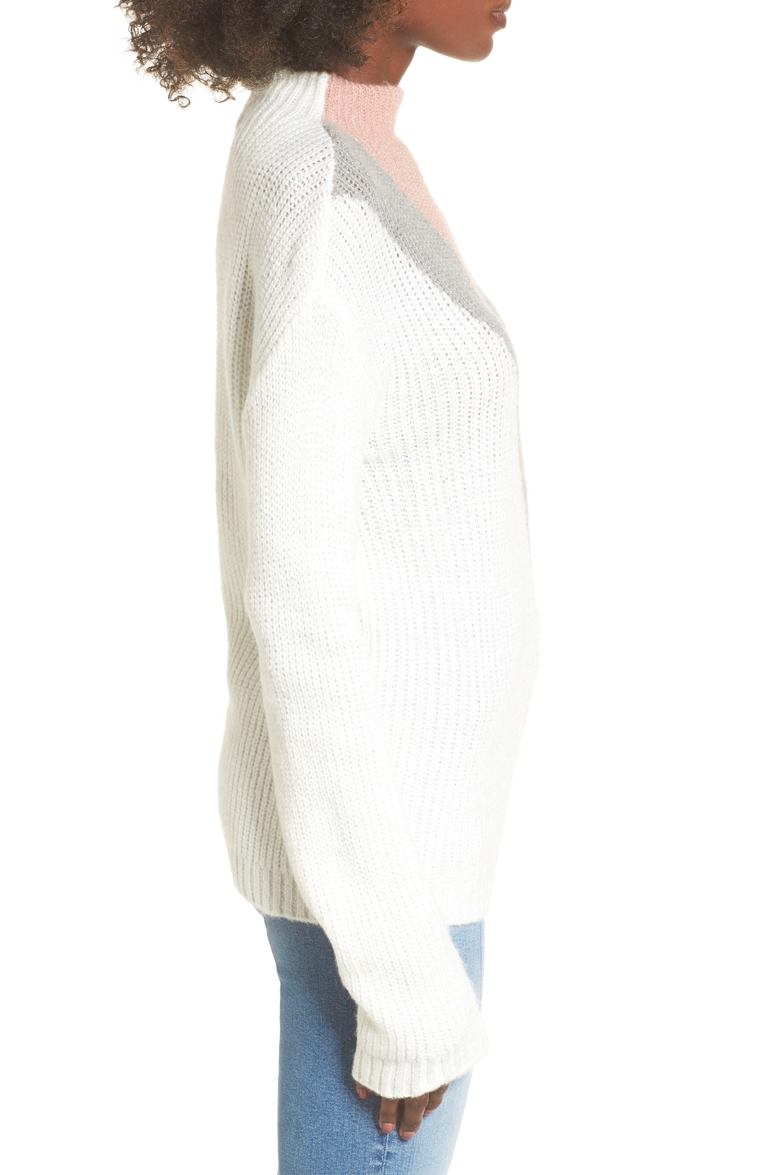 Alternate Image 3  - Cotton Emporium Tri-Color Après Ski Sweater