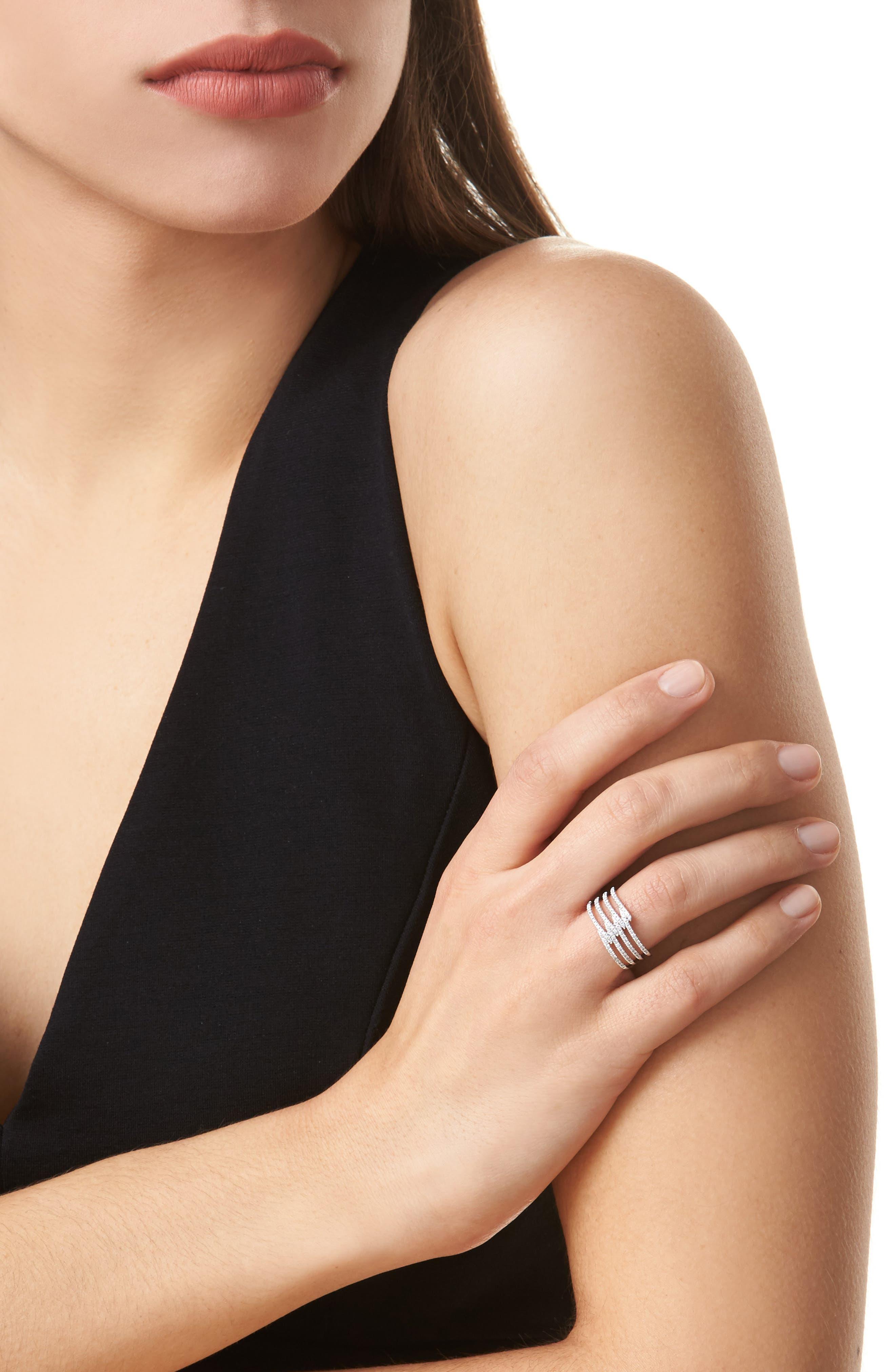 Alternate Image 2  - Bony Levy Kiera Four-Row Diamond Ring (Nordstrom Exclusive)