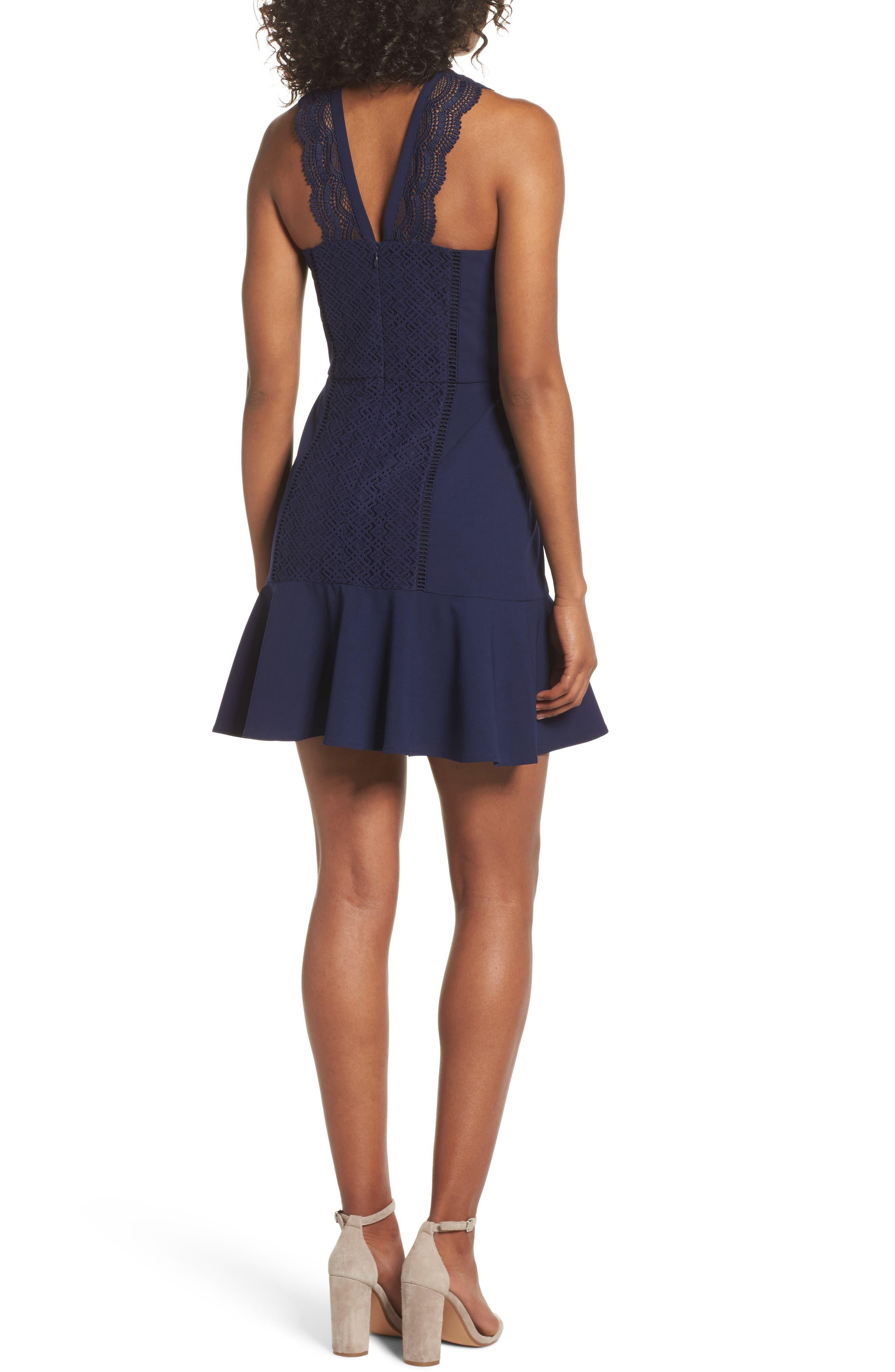 Alternate Image 2  - Greylin Mila Lace Fit & Flare Dress