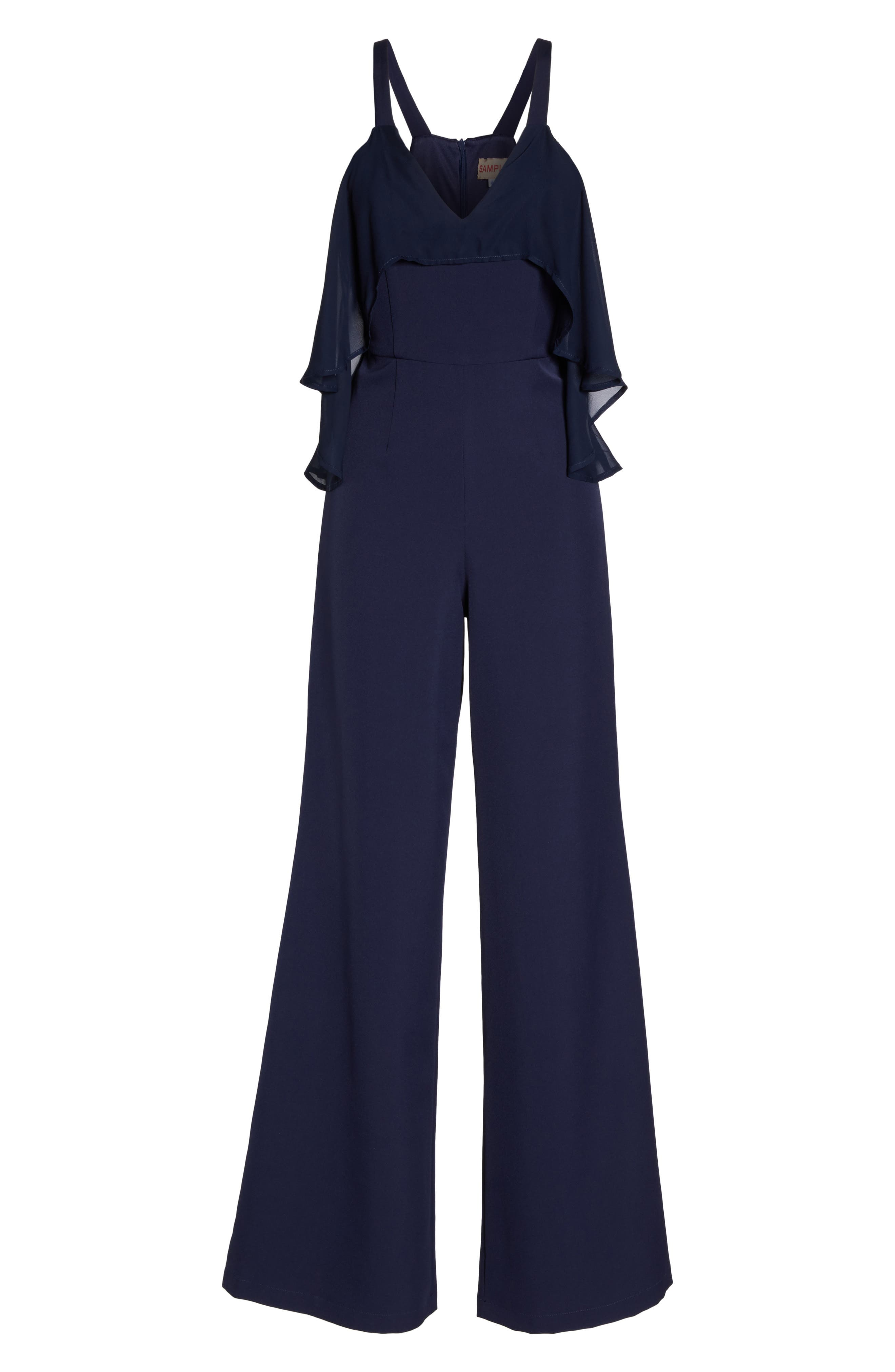 Alternate Image 6  - Jay by Jay Godfrey Oliver Cold Shoulder Ruffle Jumpsuit
