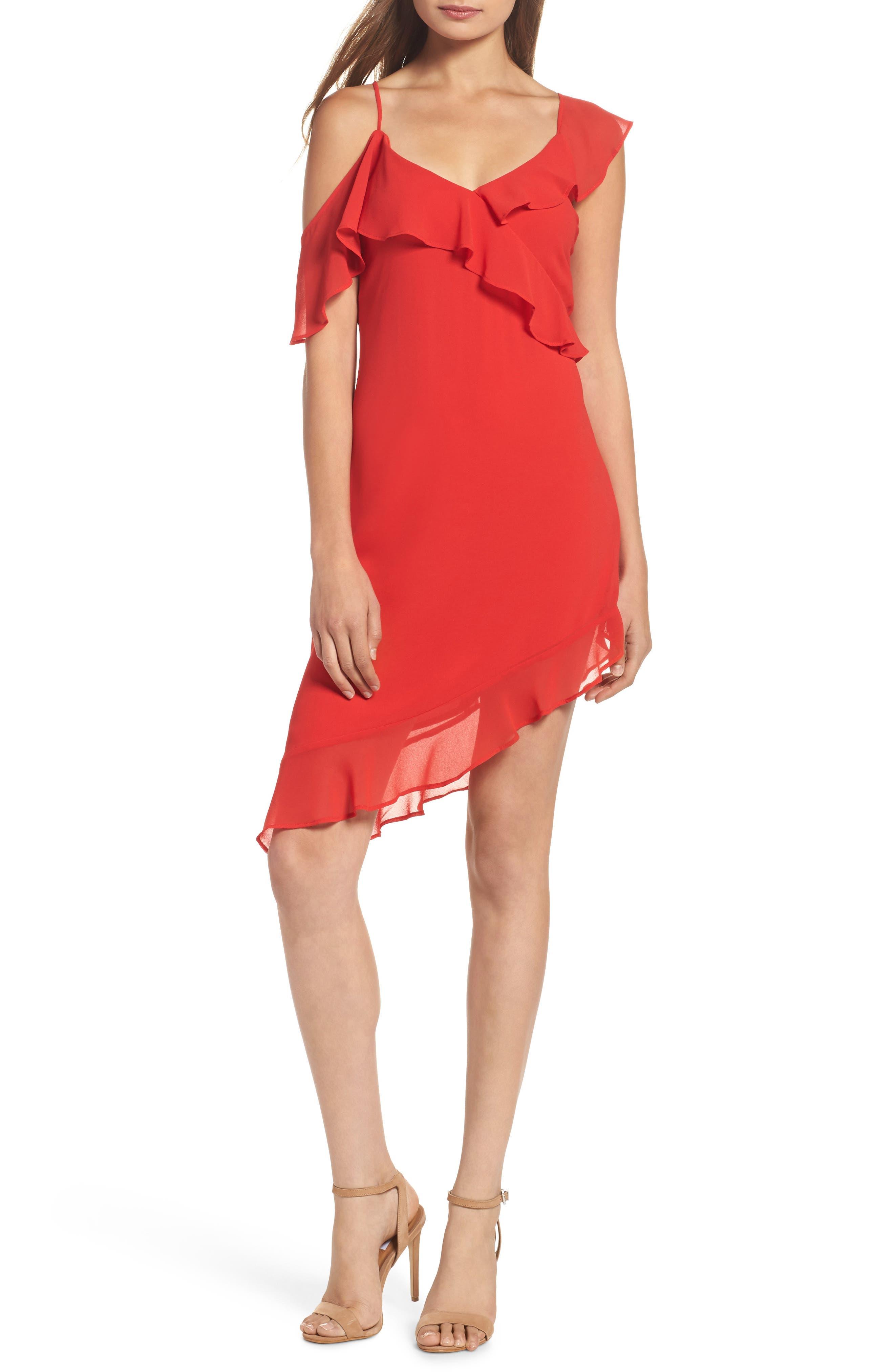 Bardot Ivie Asymmetrical Sheath Dress