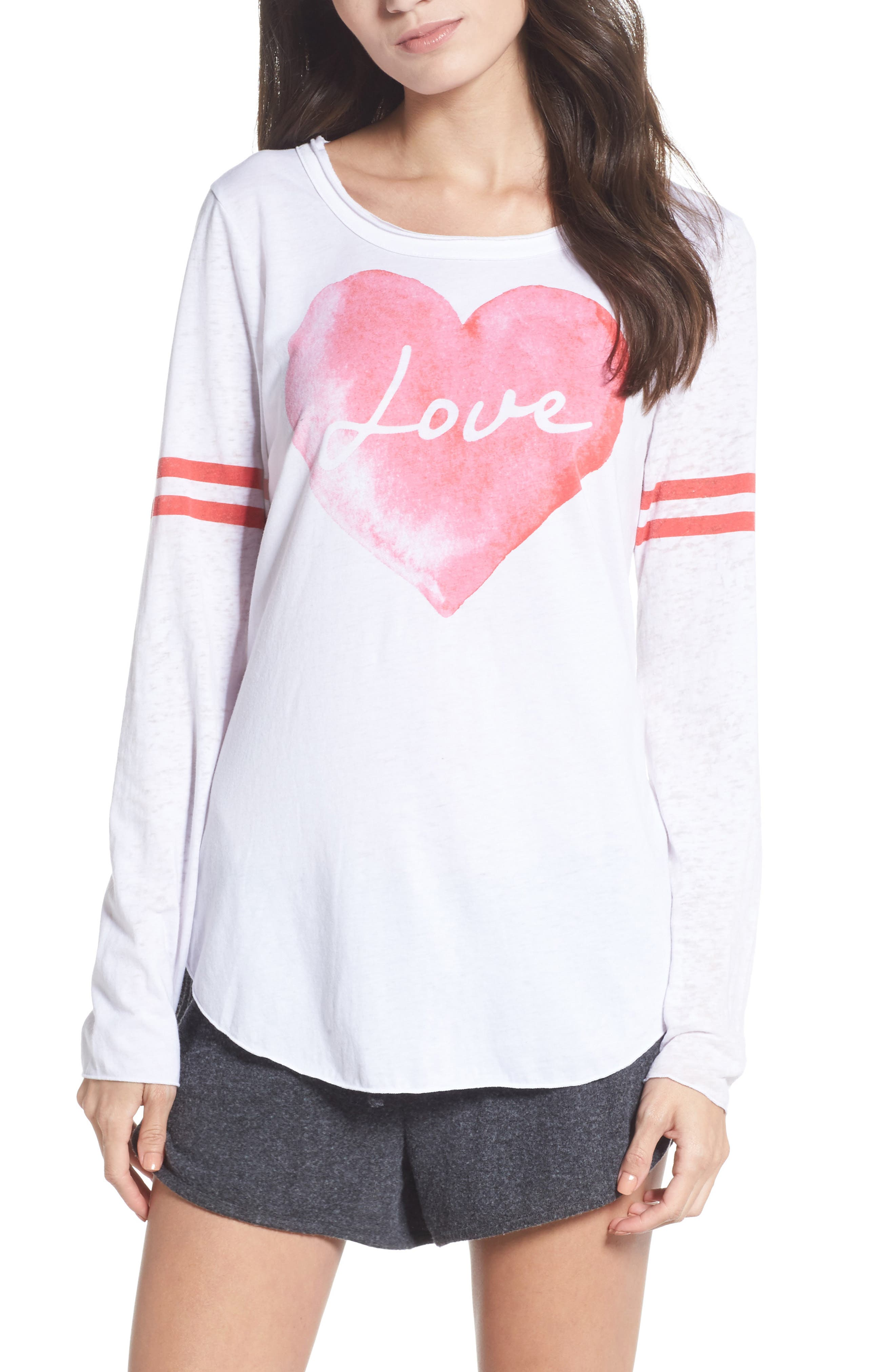 Lover Heart Tee,                         Main,                         color, White