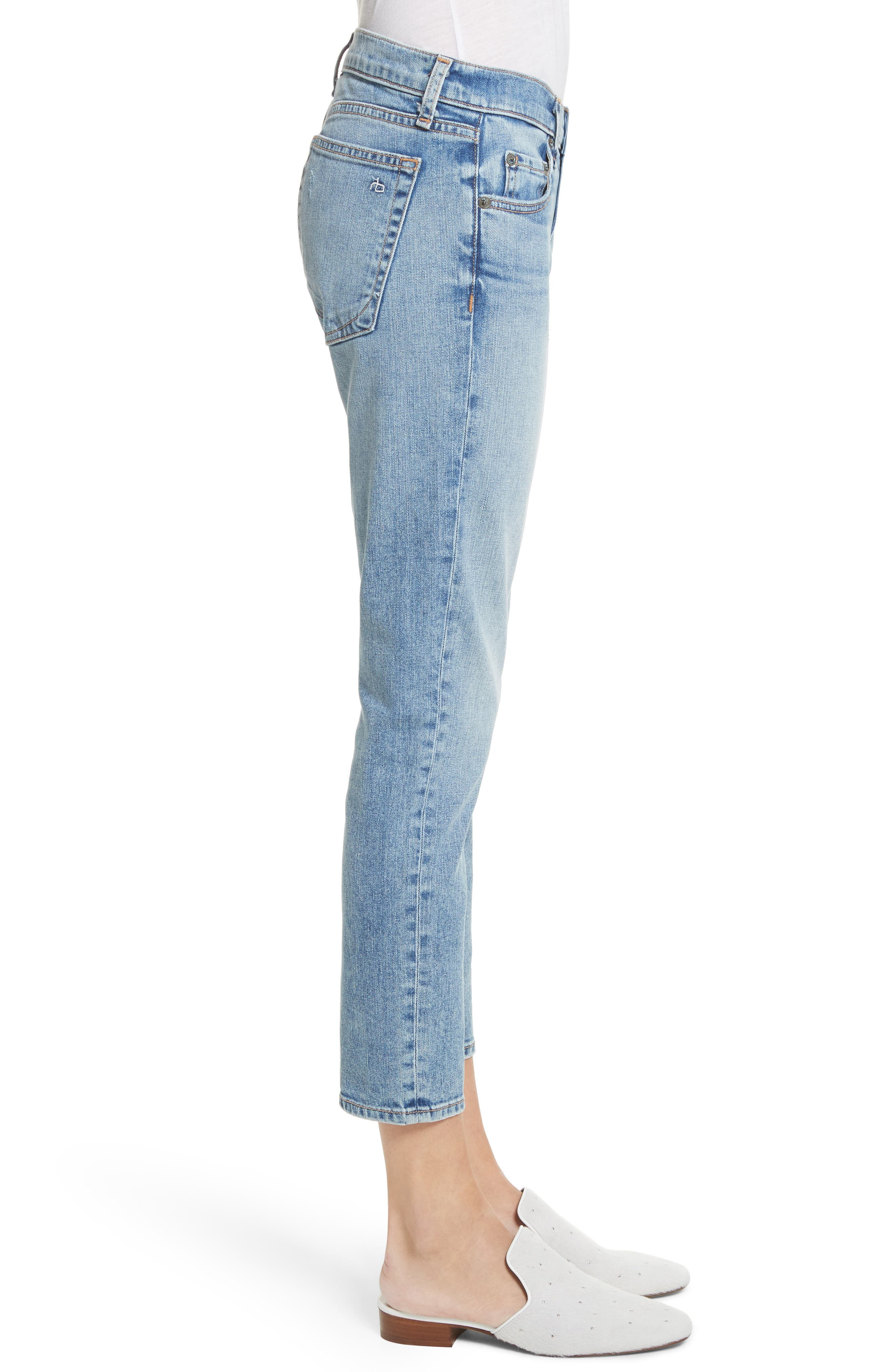 The Dre Ankle Slim Boyfriend Jeans,                             Alternate thumbnail 3, color,                             Alphaville