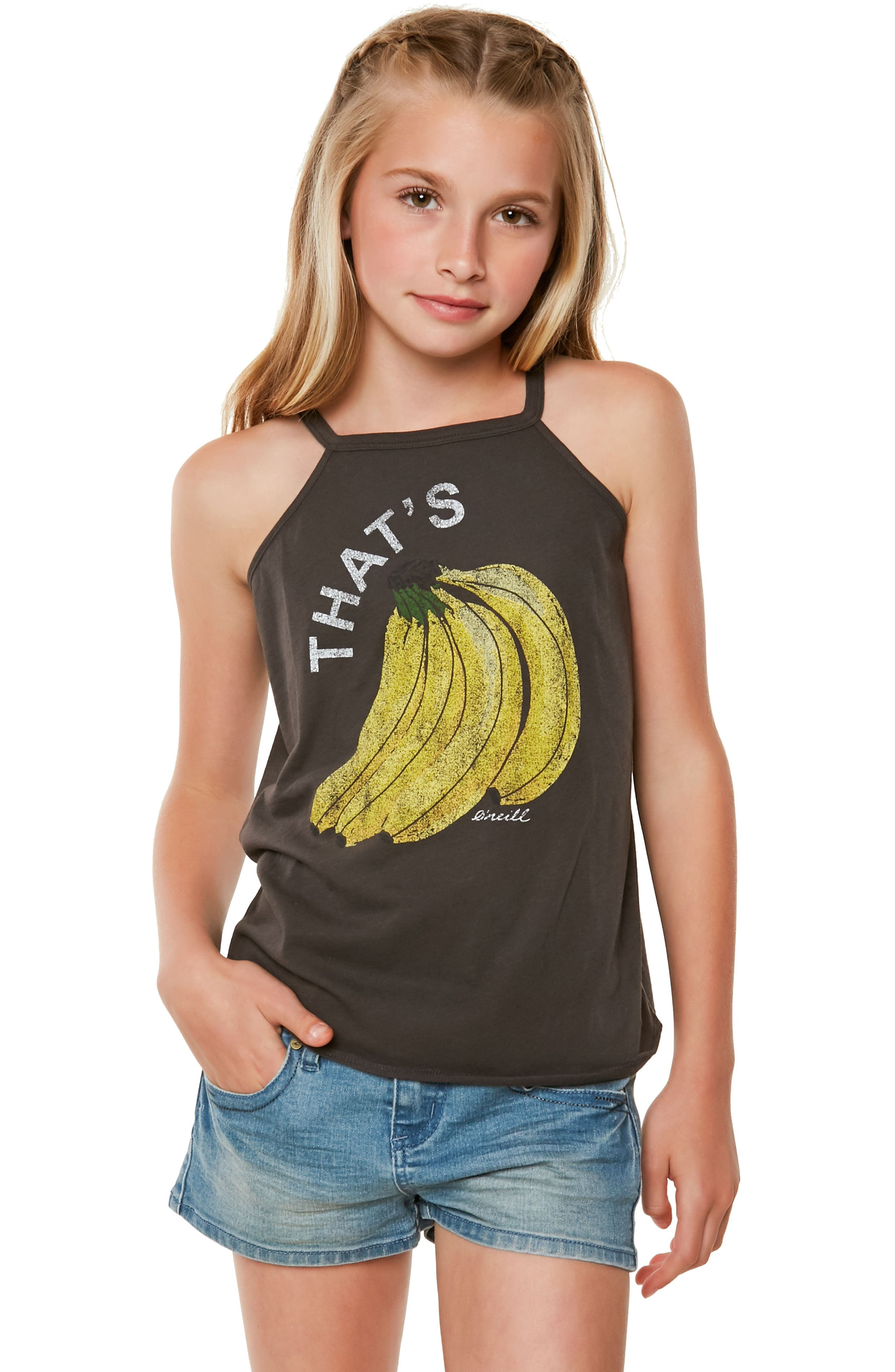 That's Bananas Graphic Tee,                             Alternate thumbnail 3, color,                             Washed Black - Fad