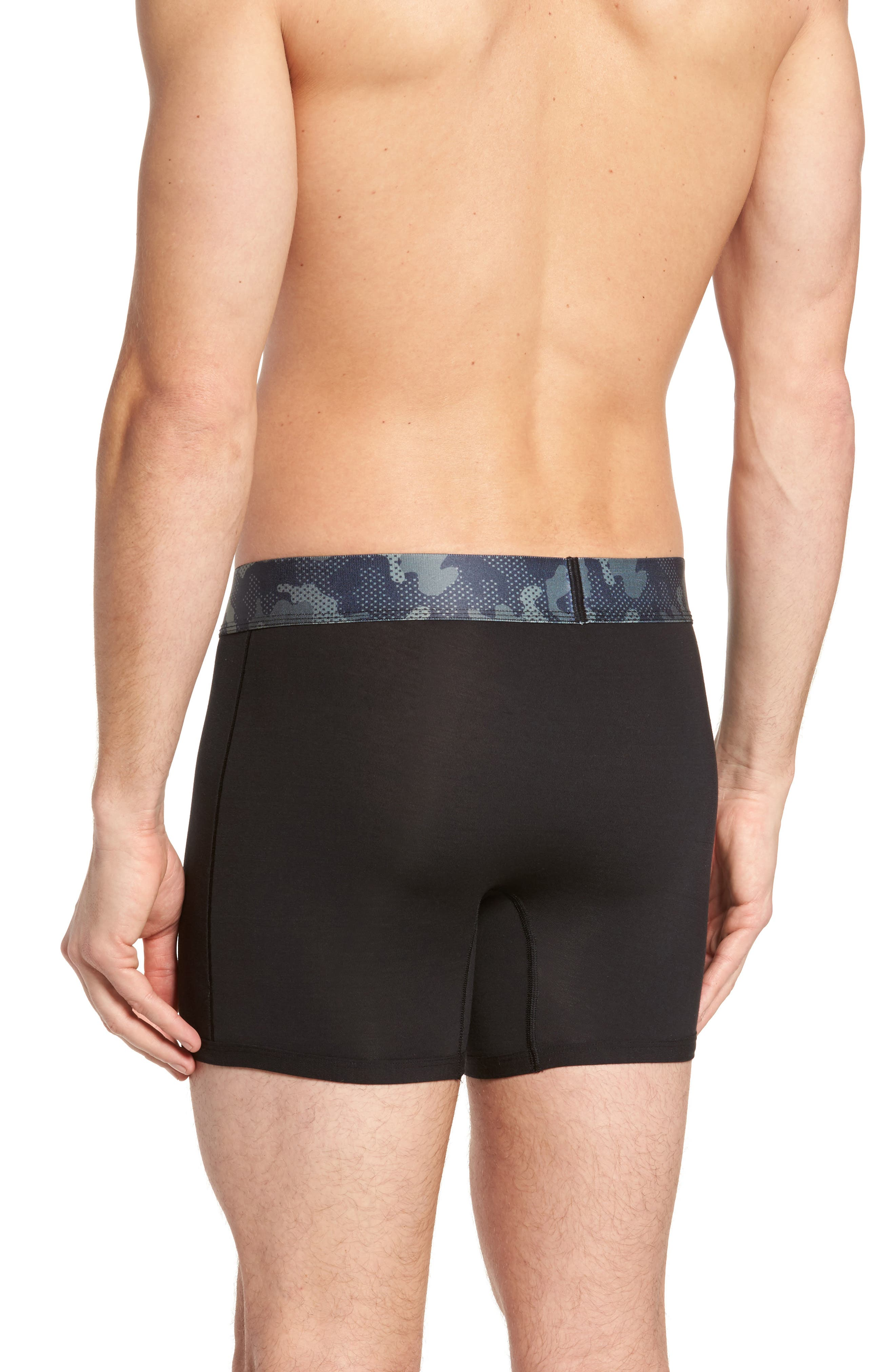 Second Skin Kevin Hart Boxer Briefs,                             Alternate thumbnail 3, color,                             Black