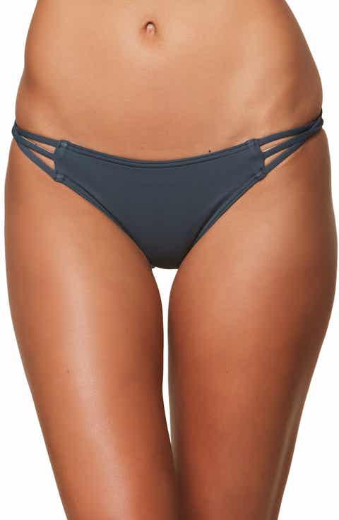 O'Neill Salt Water Solids Strappy Bikini Bottoms