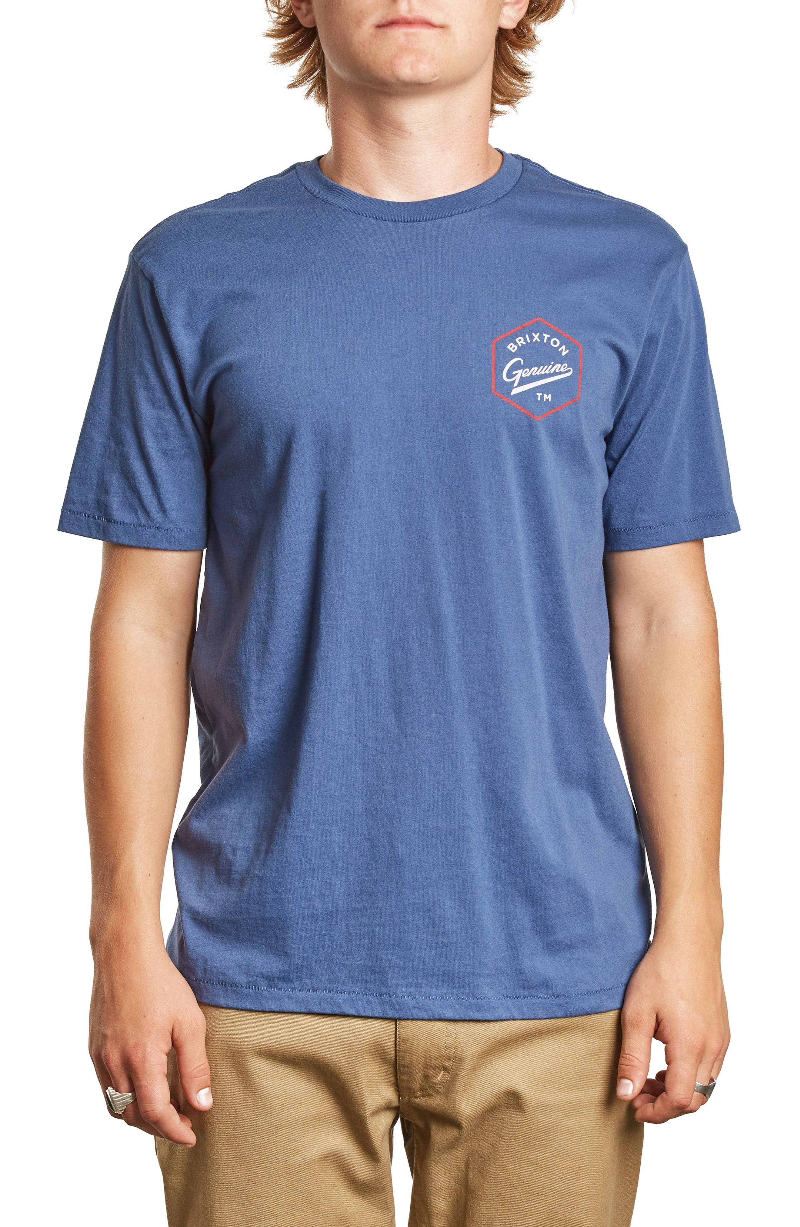 Yates Premium T-Shirt,                         Main,                         color, Deep Blue