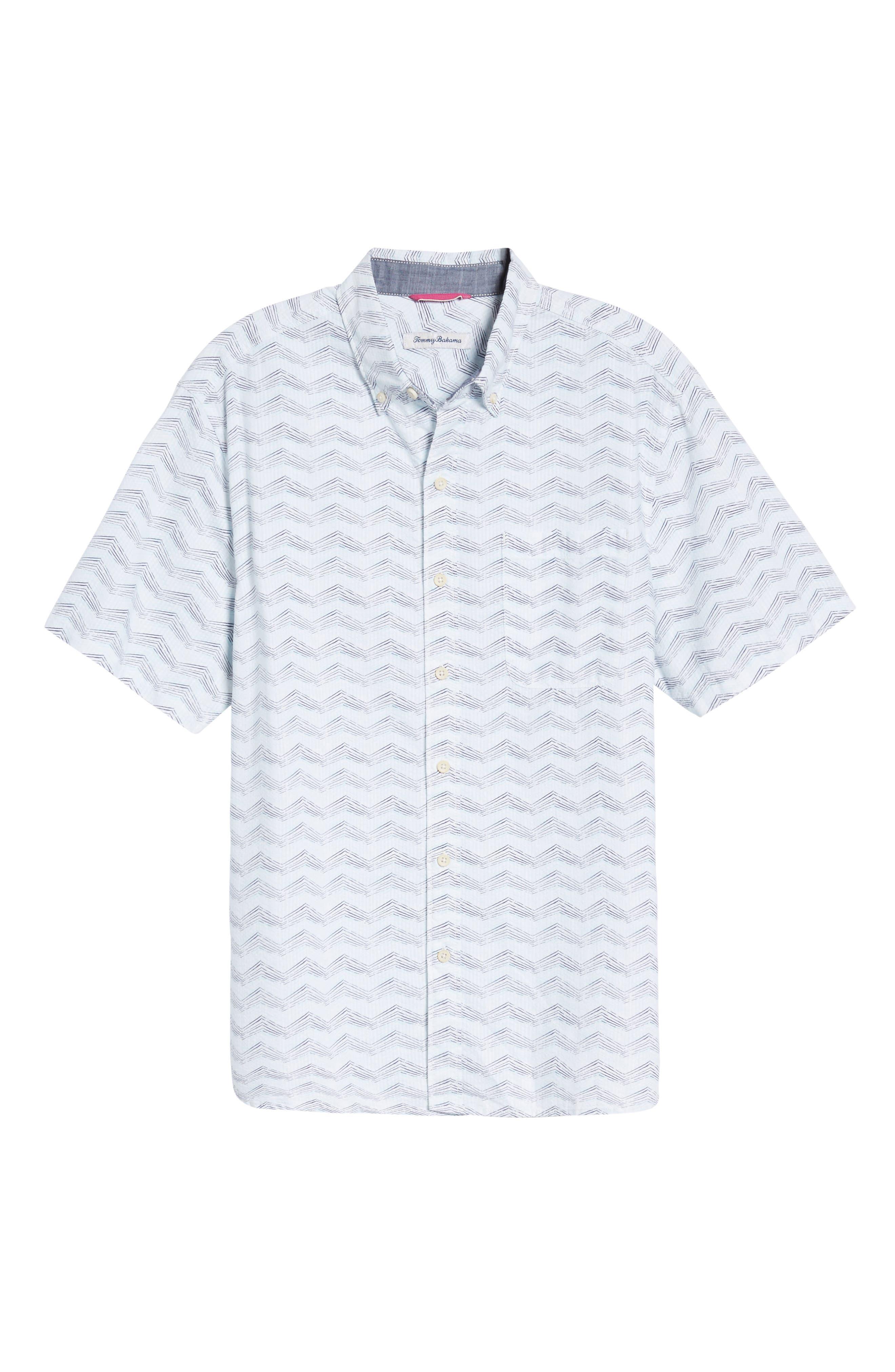 Alternate Image 6  - Tommy Bahama Chevron Shores Print Sport Shirt