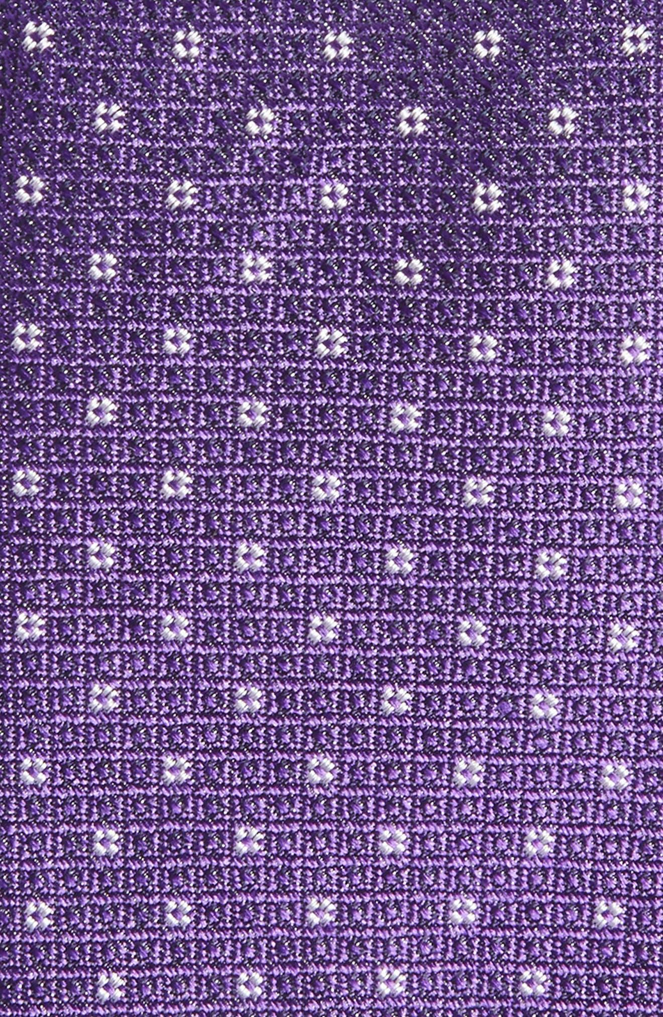 Denson Neat Silk Tie,                             Alternate thumbnail 2, color,                             Purple