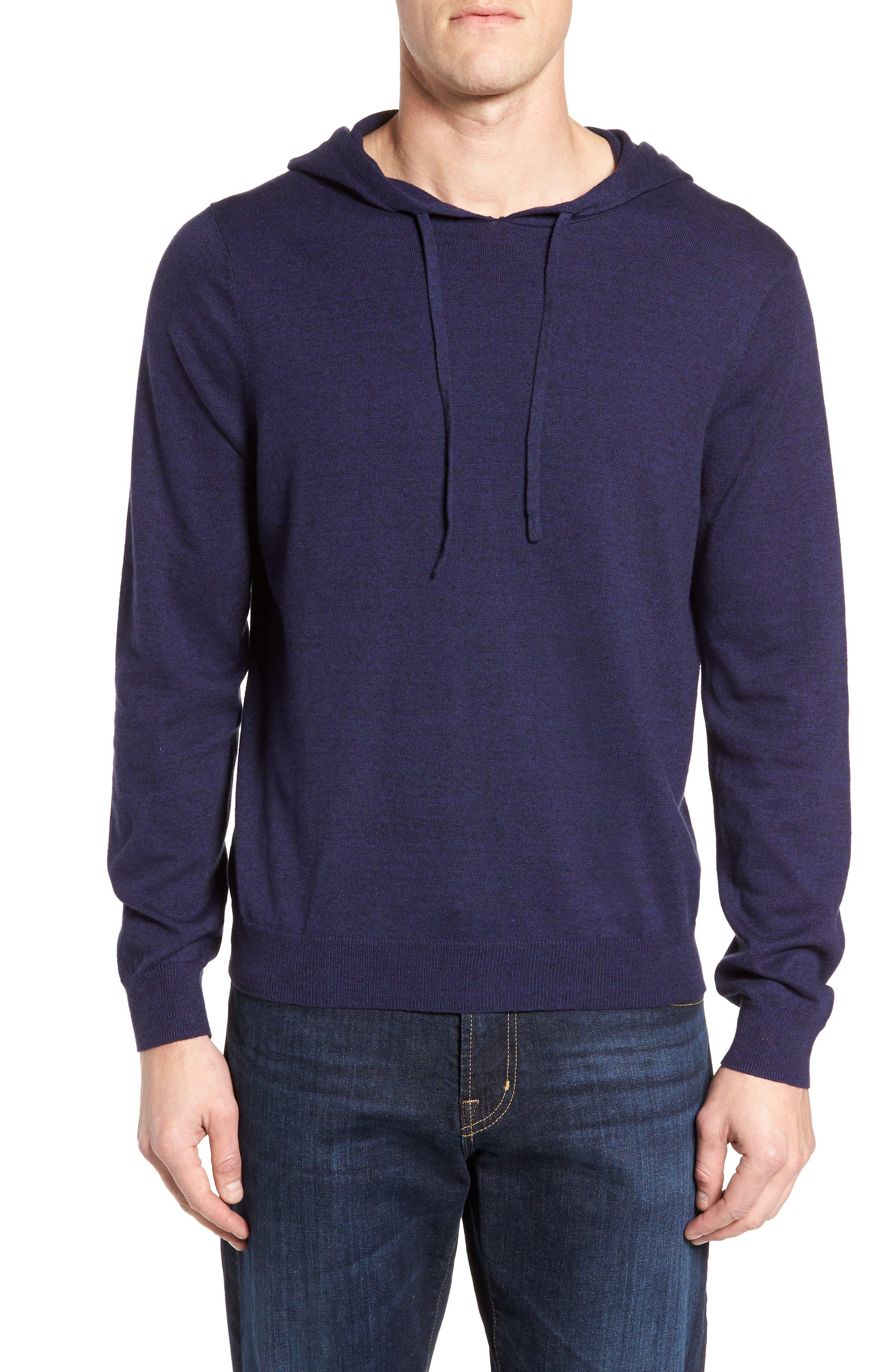 Main Image - Nordstrom Men's Shop Fine Gauge Cotton Hoodie