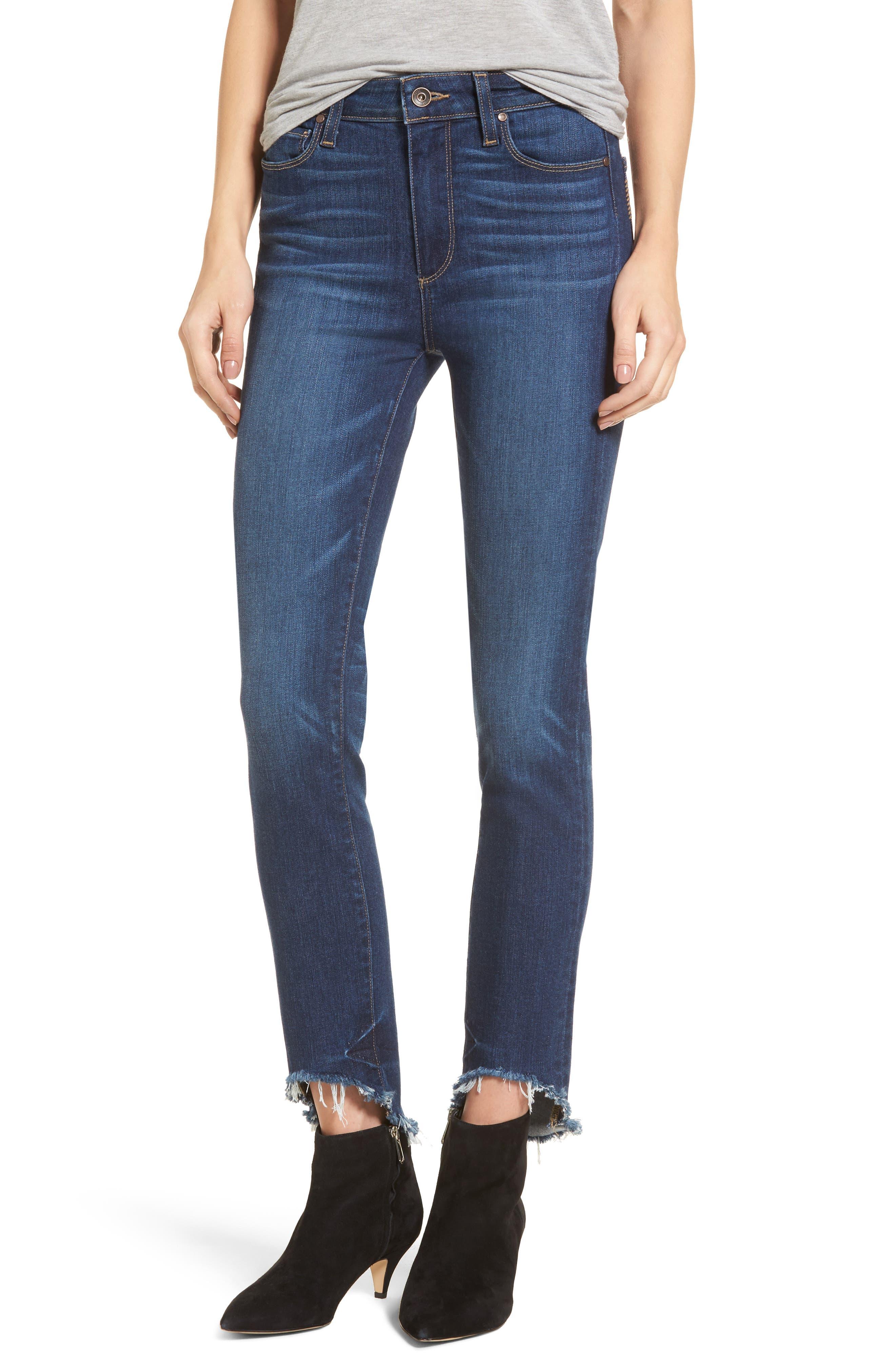 Transcend Vintage - Hoxton High Waist Ankle Skinny Jeans,                             Main thumbnail 1, color,                             Auburn