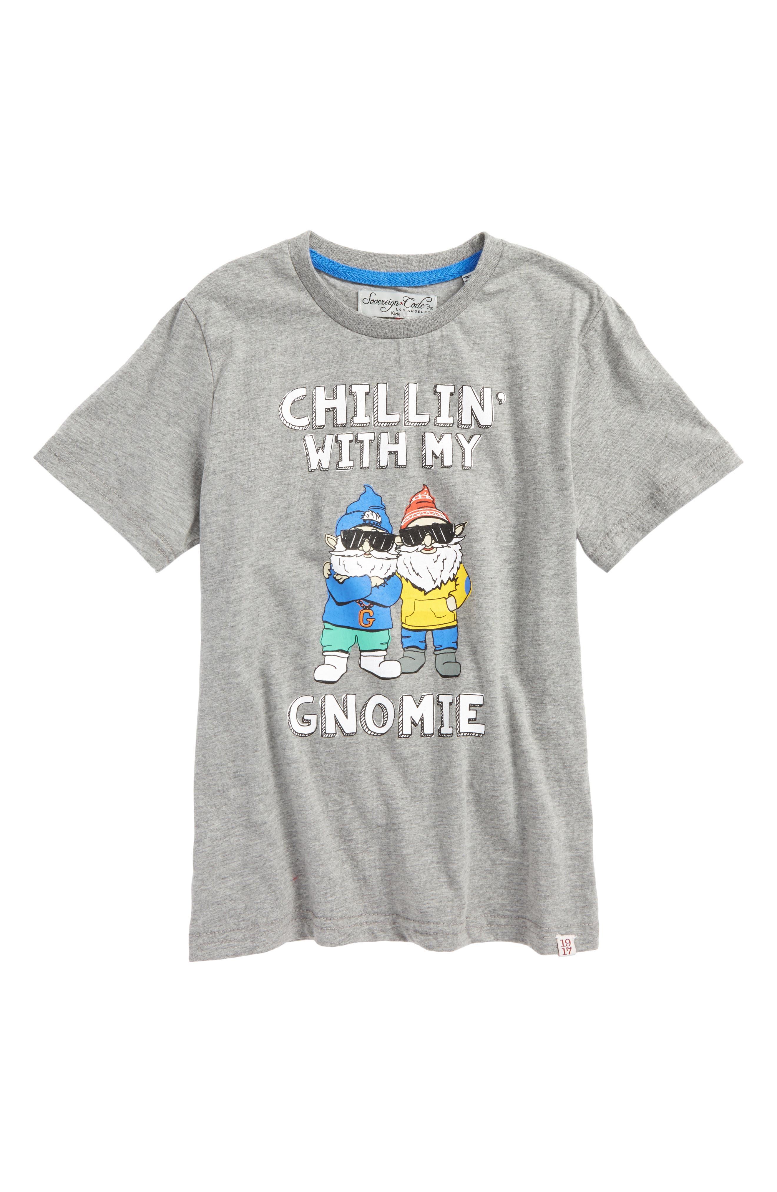 Gnomies Graphic T-Shirt,                             Main thumbnail 1, color,                             Grey