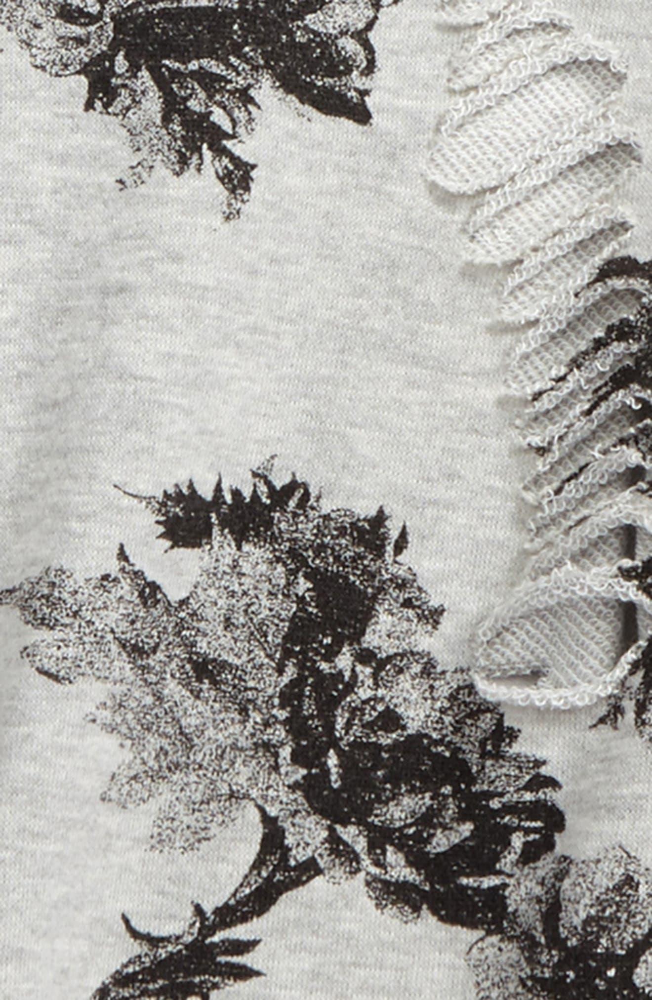 Alternate Image 2  - For All Seasons Floral Print Sweatshirt (Big Girls)