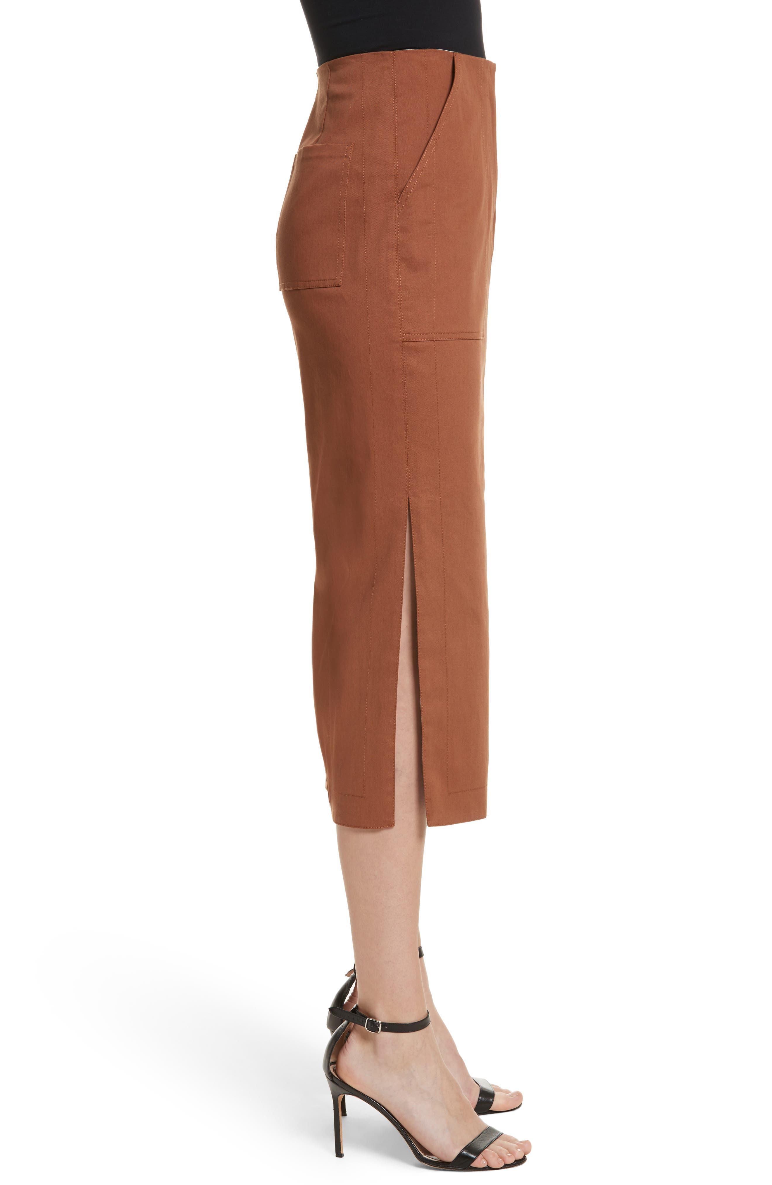 Alternate Image 5  - Diane von Furstenberg Midi Twill Pencil Skirt