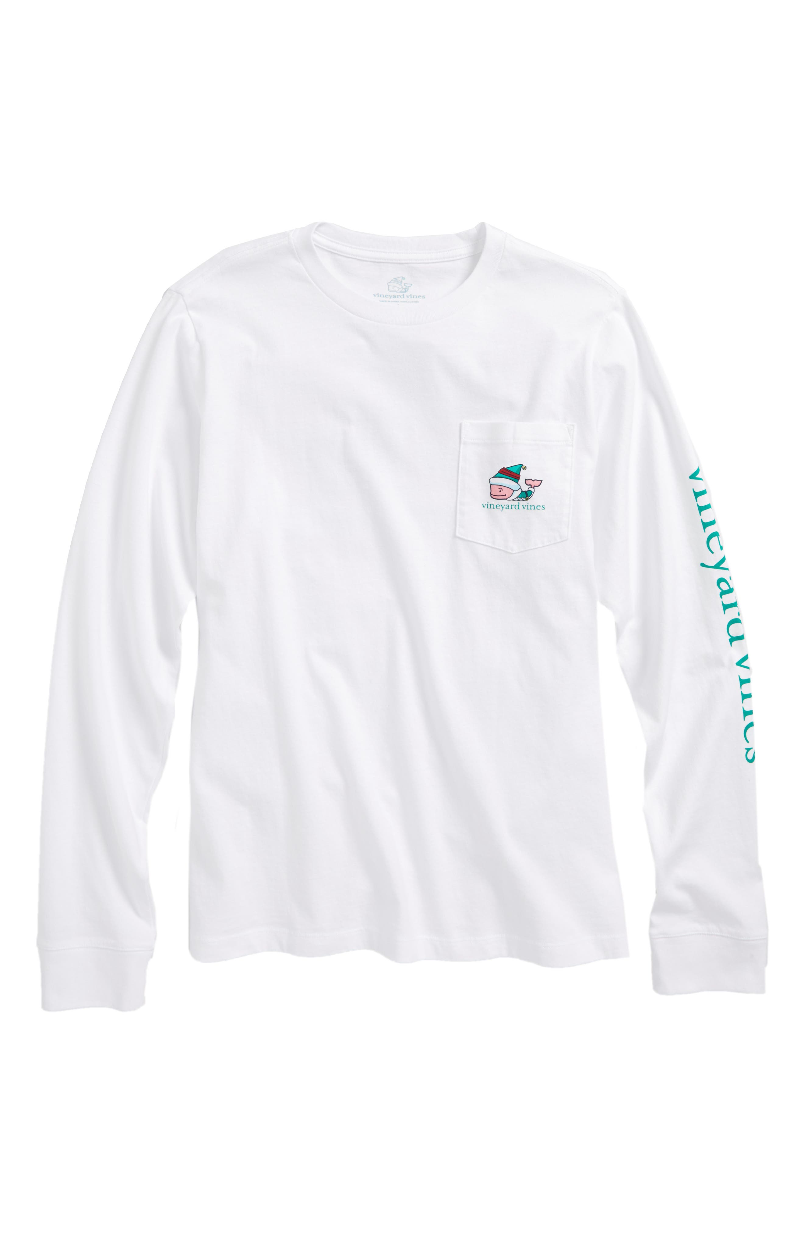 vineyard vines Elf Whale Merry Christmas 2017 Print T-Shirt (Big Boys)