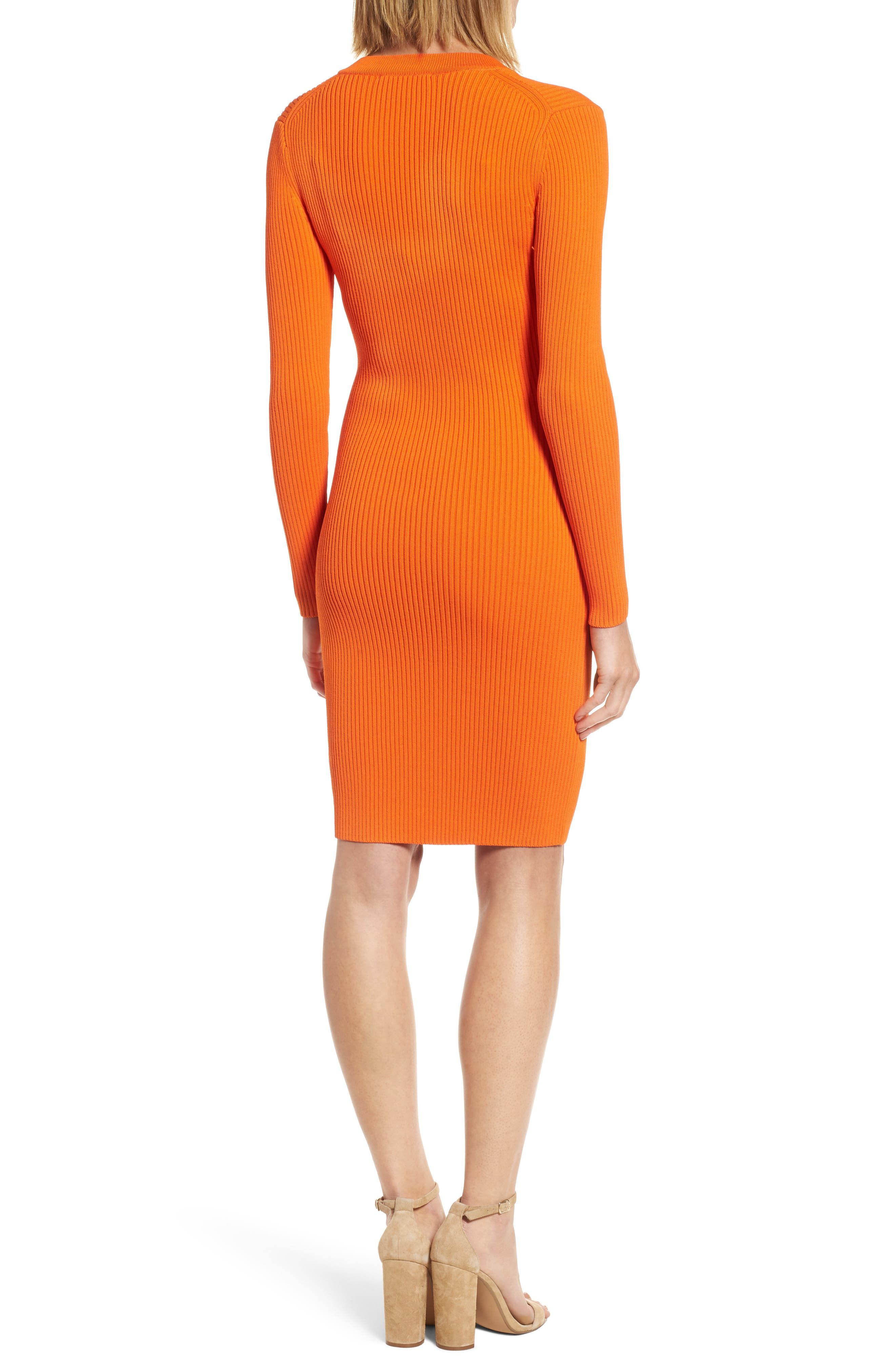 Alternate Image 2  - MICHAEL Michael Kors Lace-Up Ribbed Dress