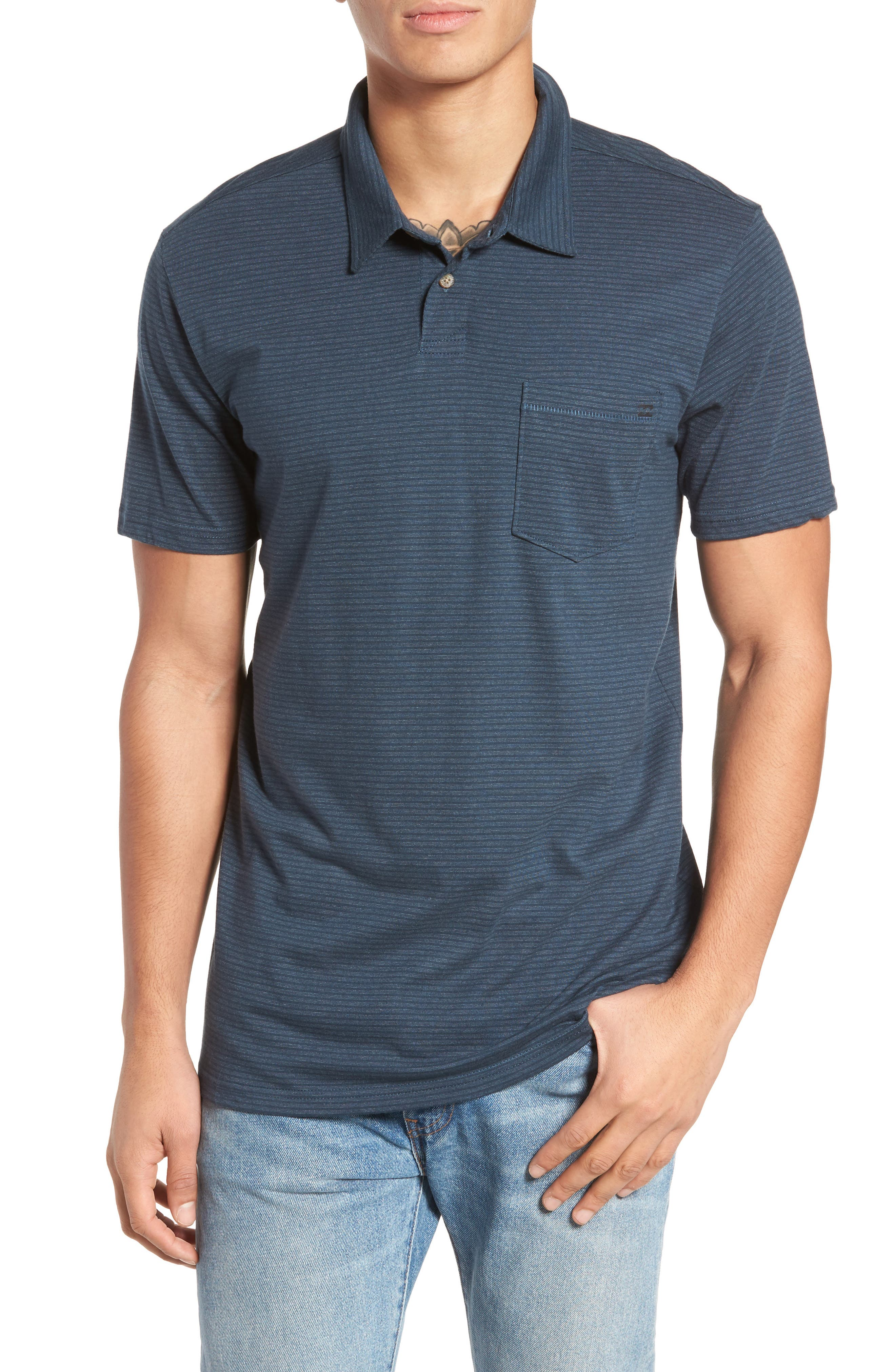 Standard Issue Polo,                             Main thumbnail 1, color,                             Navy