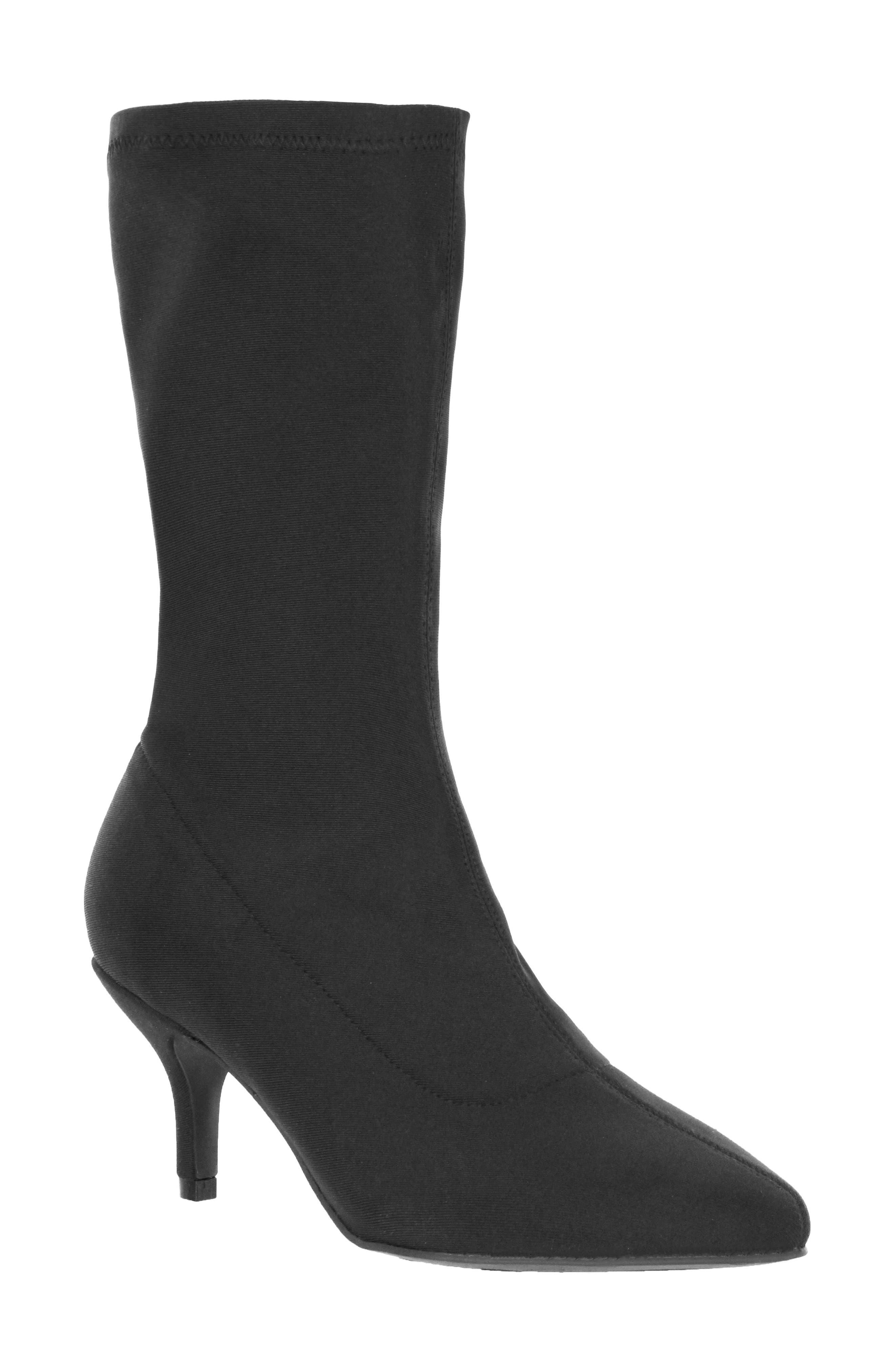 Camilla Sock Boot,                             Main thumbnail 1, color,                             Black