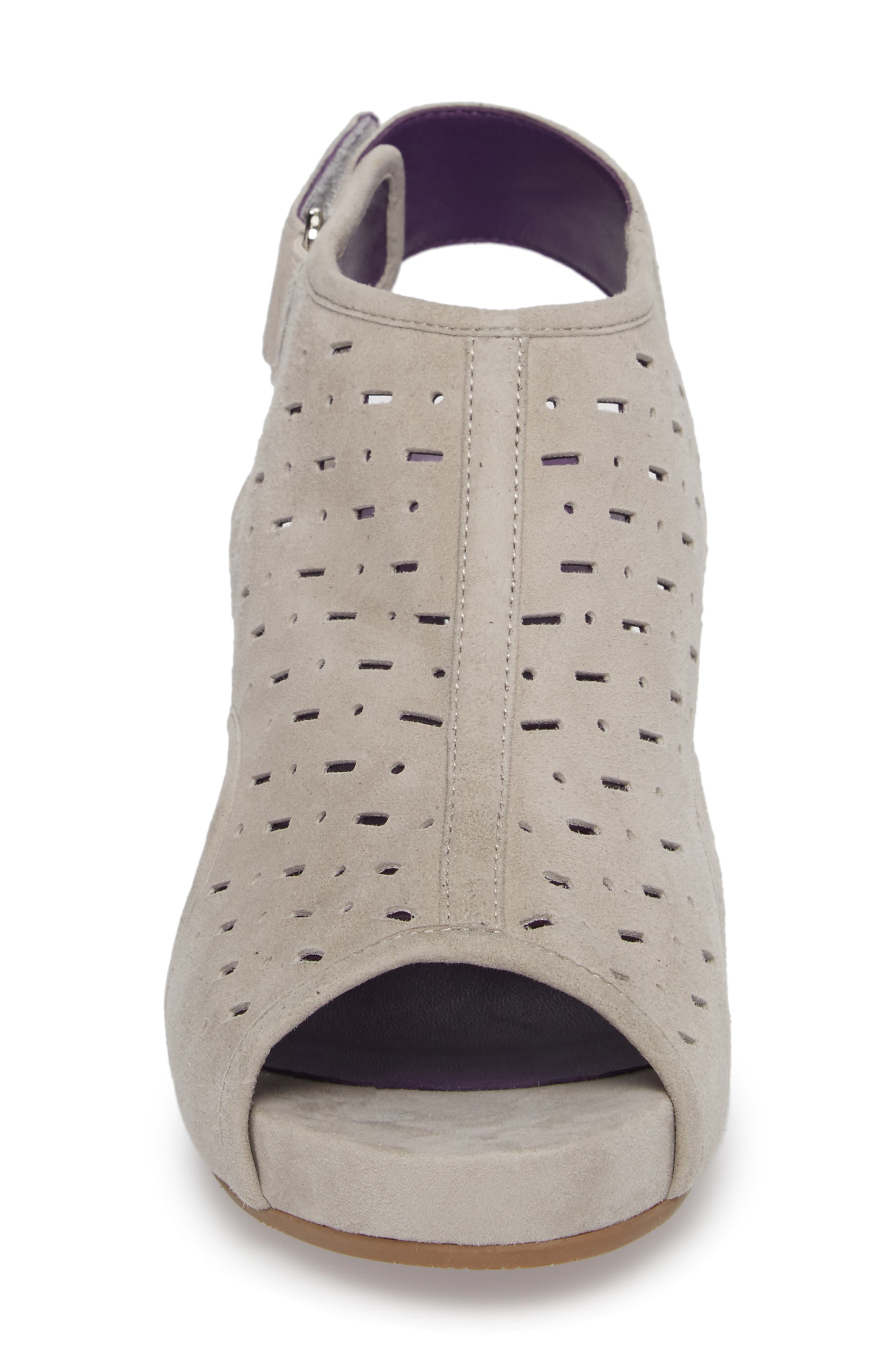 Ibis Wedge,                             Alternate thumbnail 4, color,                             Dove Suede