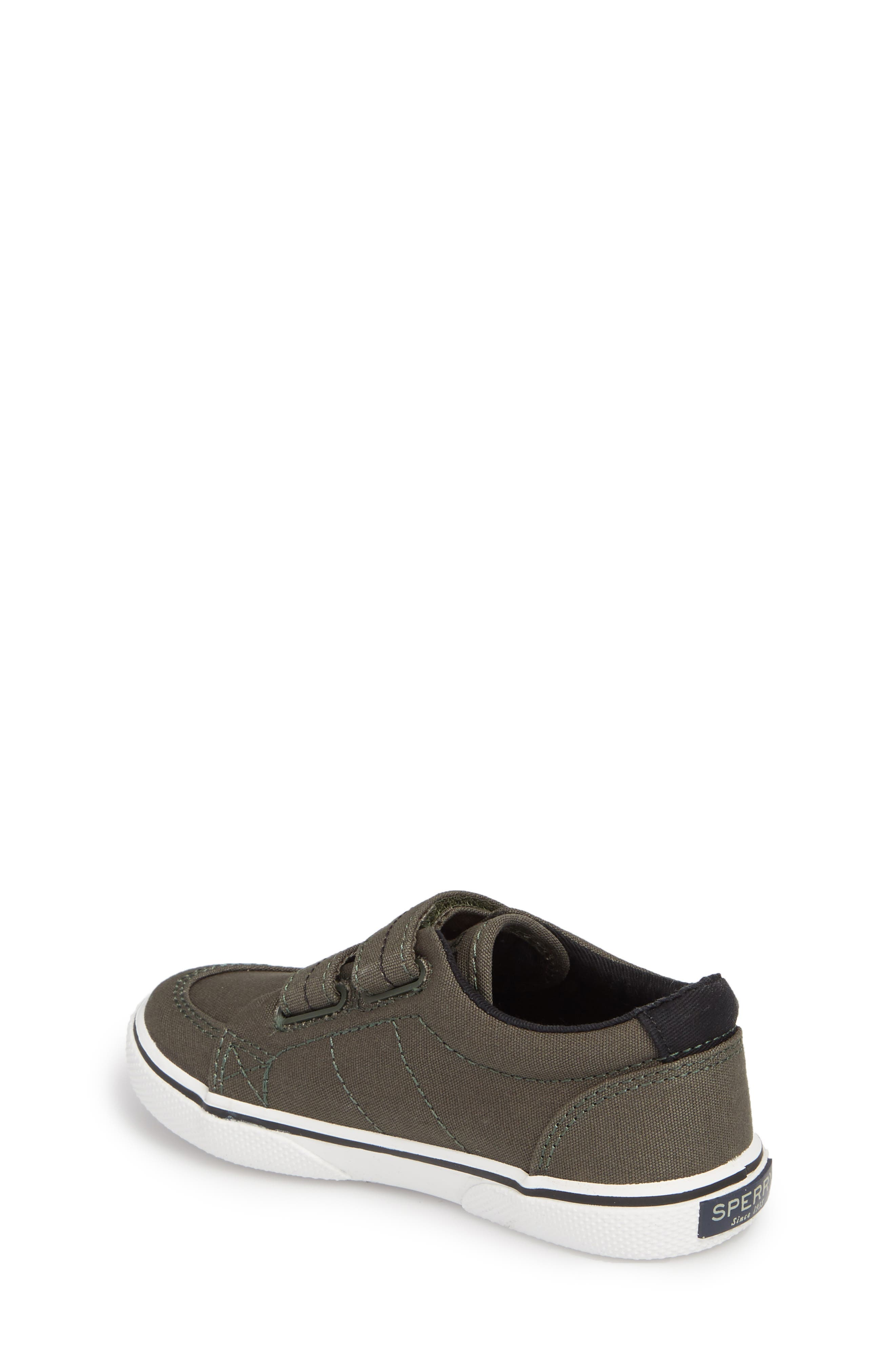 Sperry Top-Sider<sup>®</sup> Kids 'Halyard' Sneaker,                             Alternate thumbnail 2, color,                             Olive