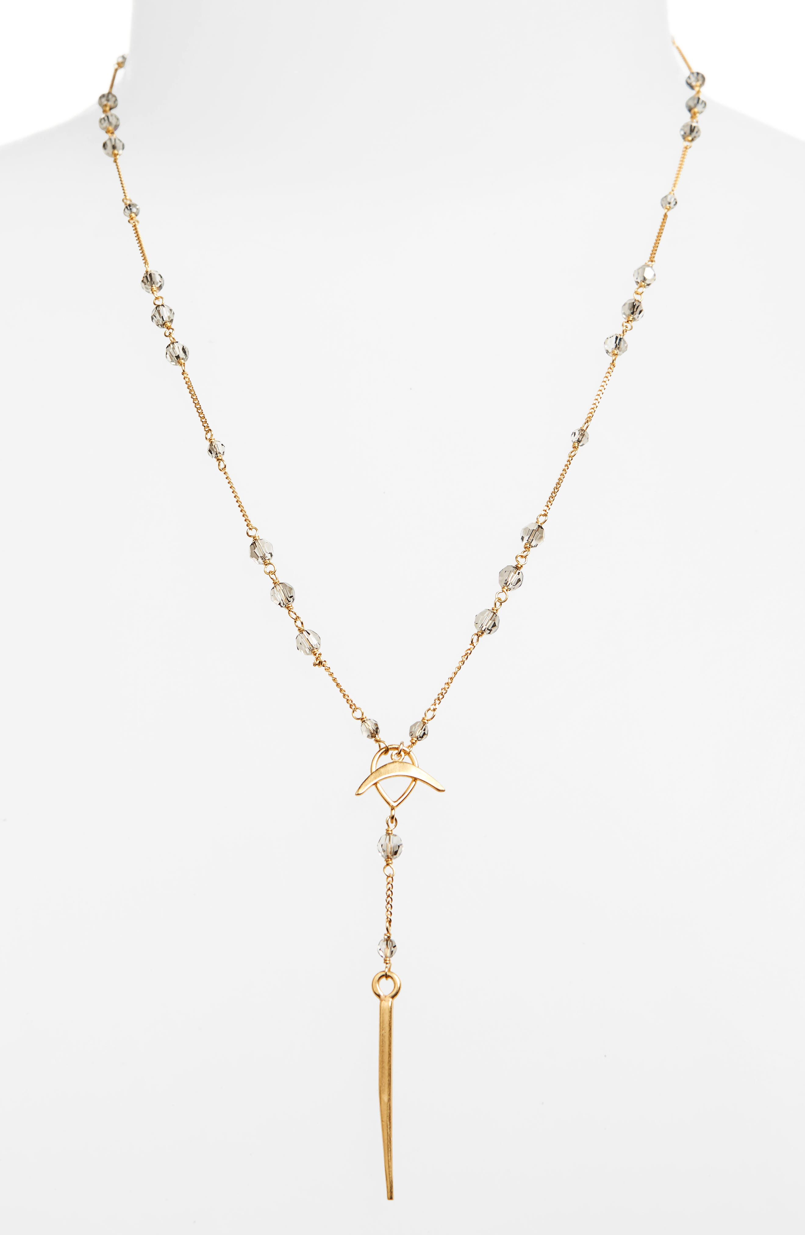 Chan Luu Crystal Station Dagger Pendant Y-Necklace