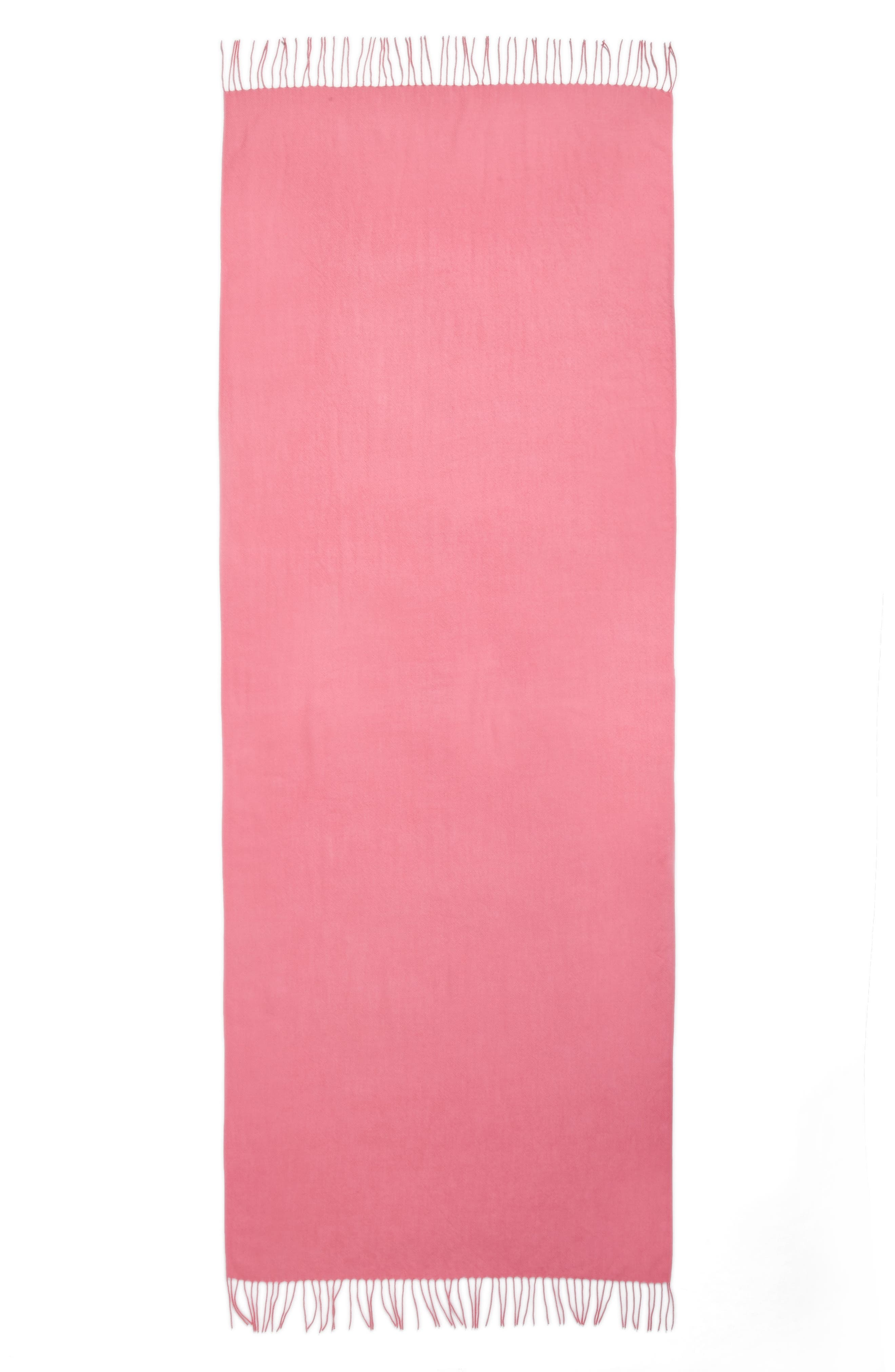 Tissue Weight Wool &Cashmere Scarf,                             Alternate thumbnail 4, color,                             Pink Zenna