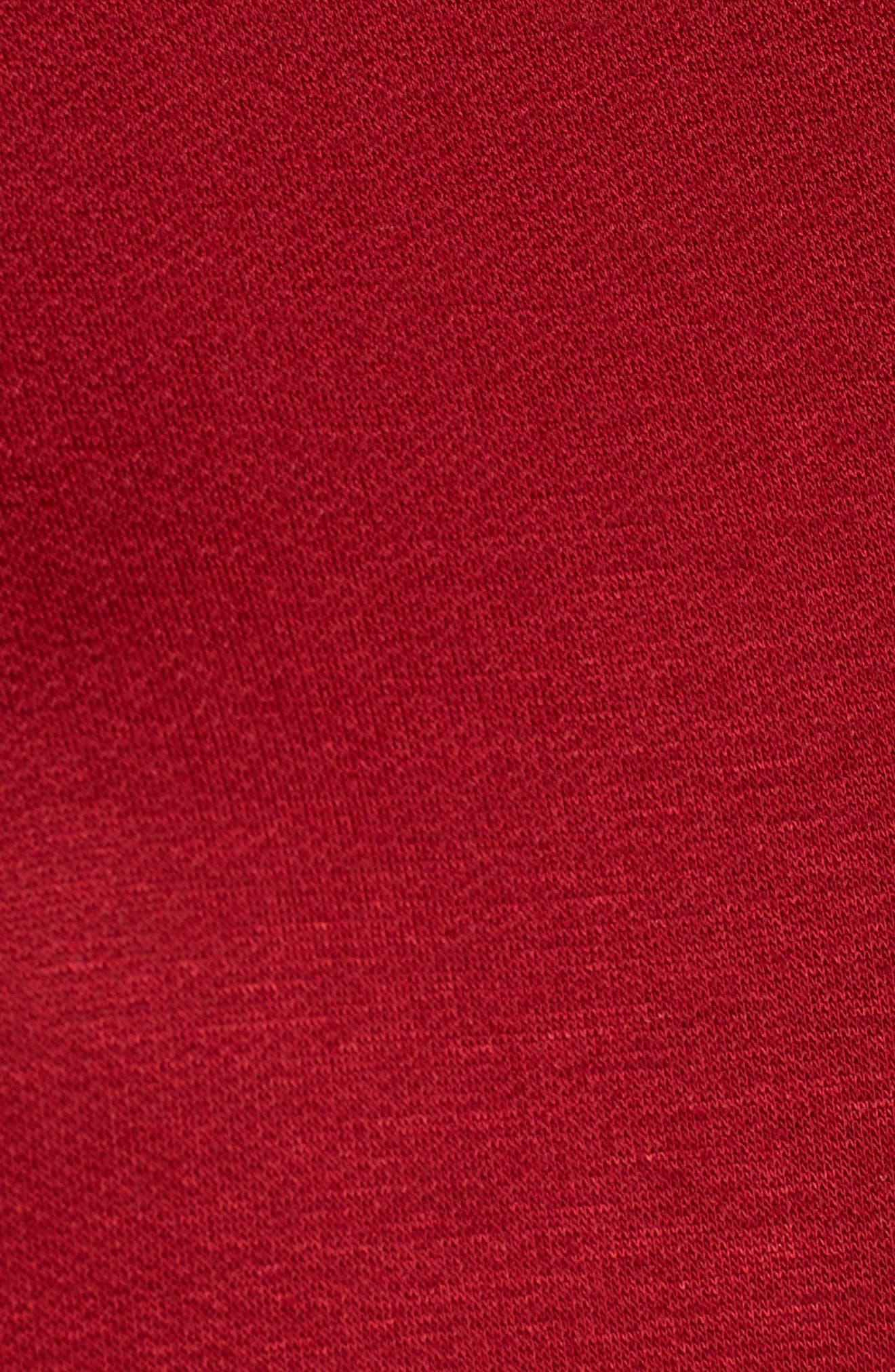 Mock Neck Tunic,                             Alternate thumbnail 5, color,                             Wine