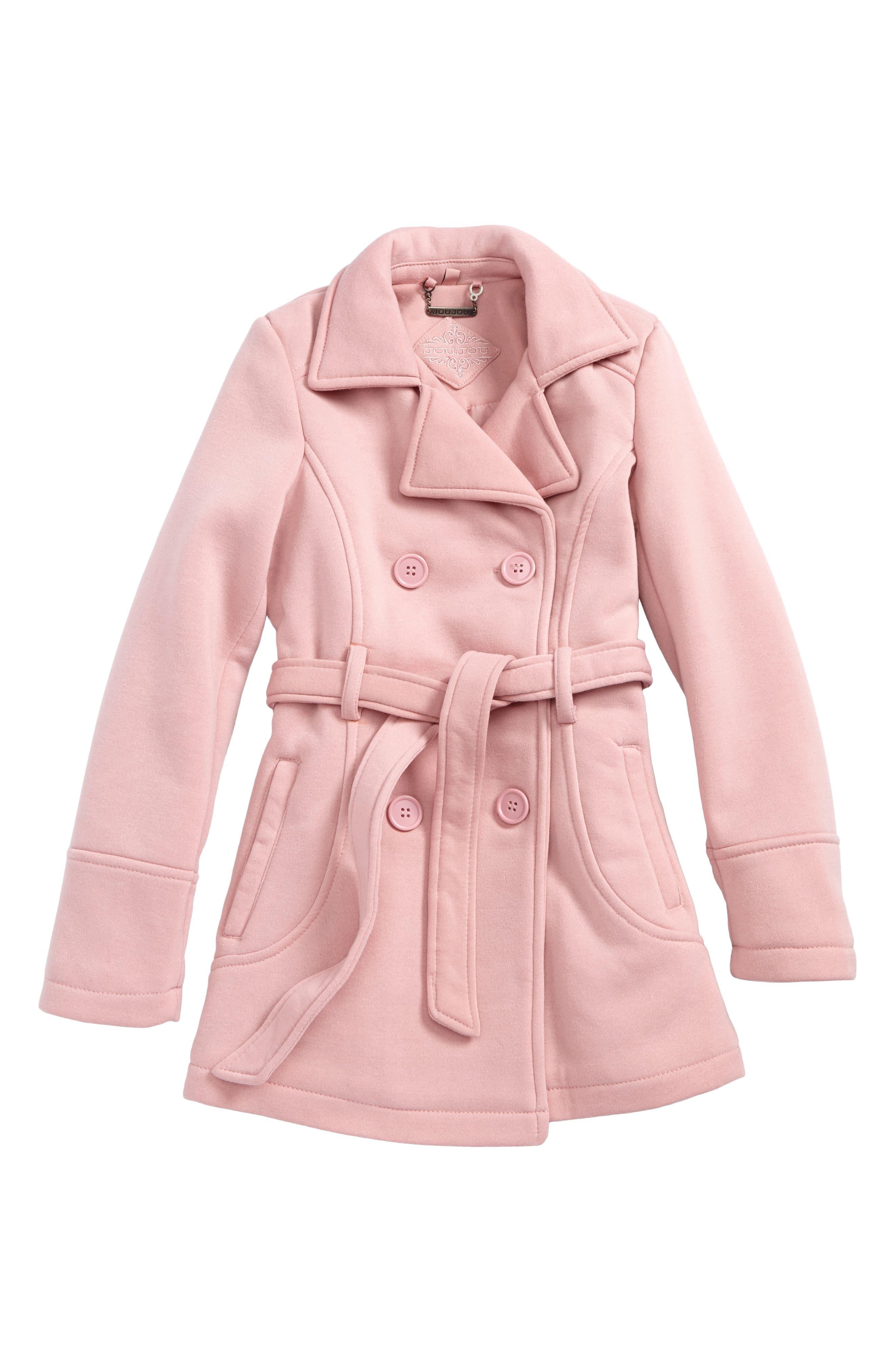 Jou Jou Double-Breasted Coat (Big Girls)