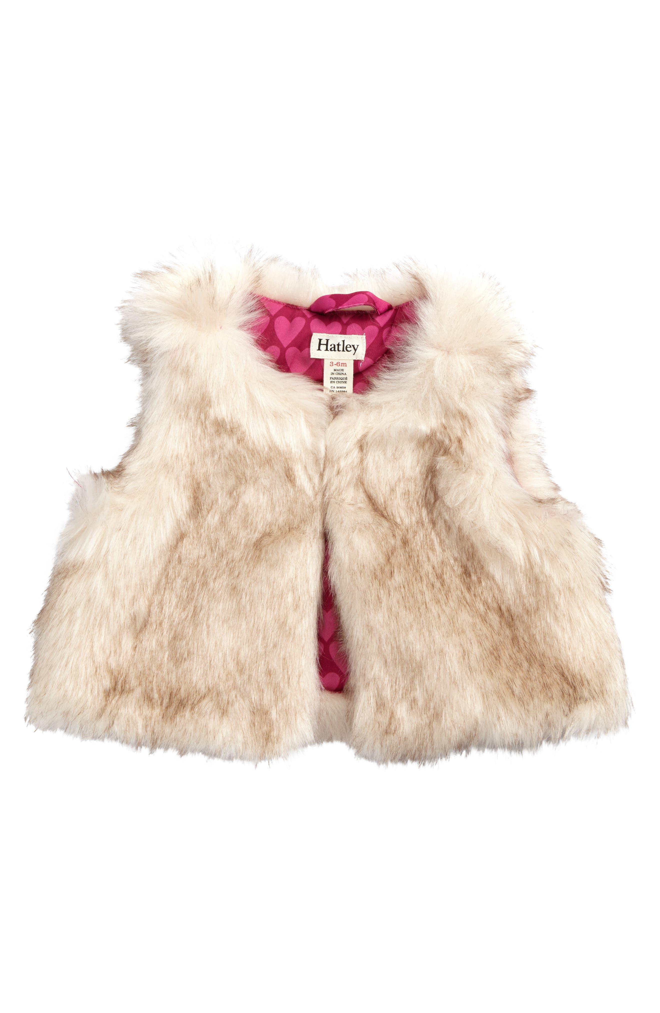 Main Image - Hatley Faux Fur Vest (Baby Girls)