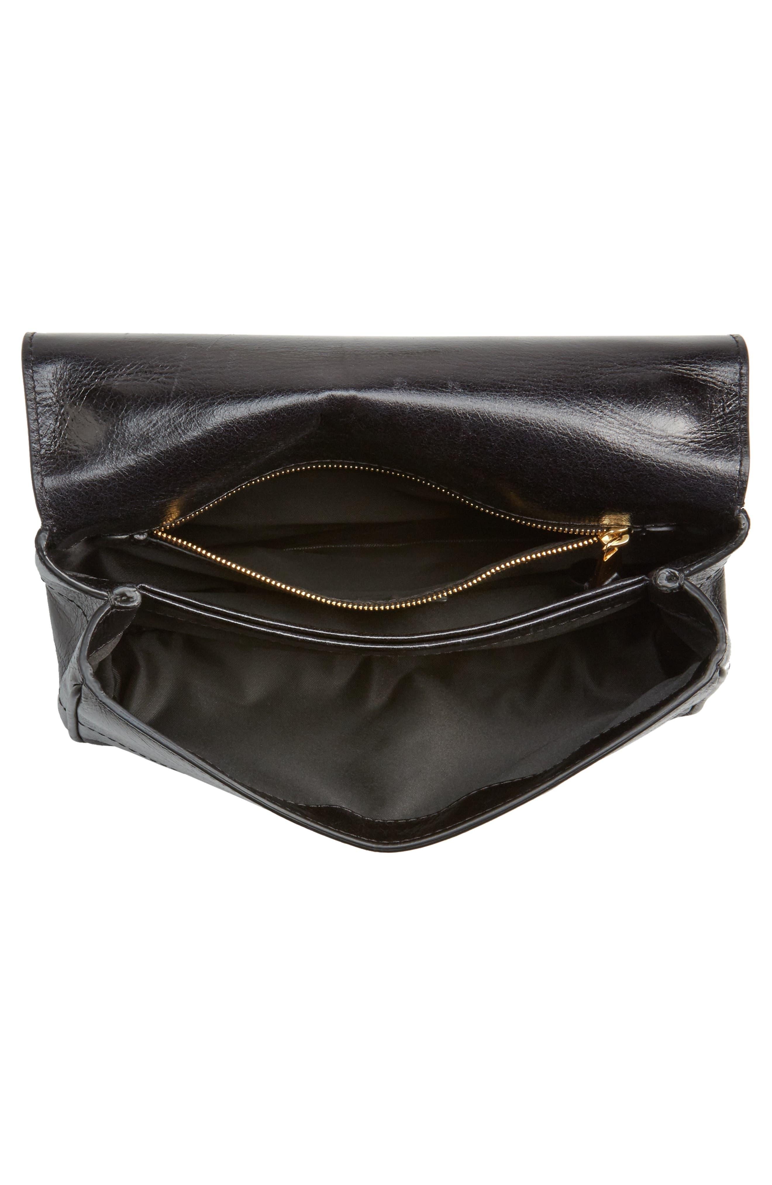 Alternate Image 4  - Moschino Logo Calfskin Leather Crossbody Bag