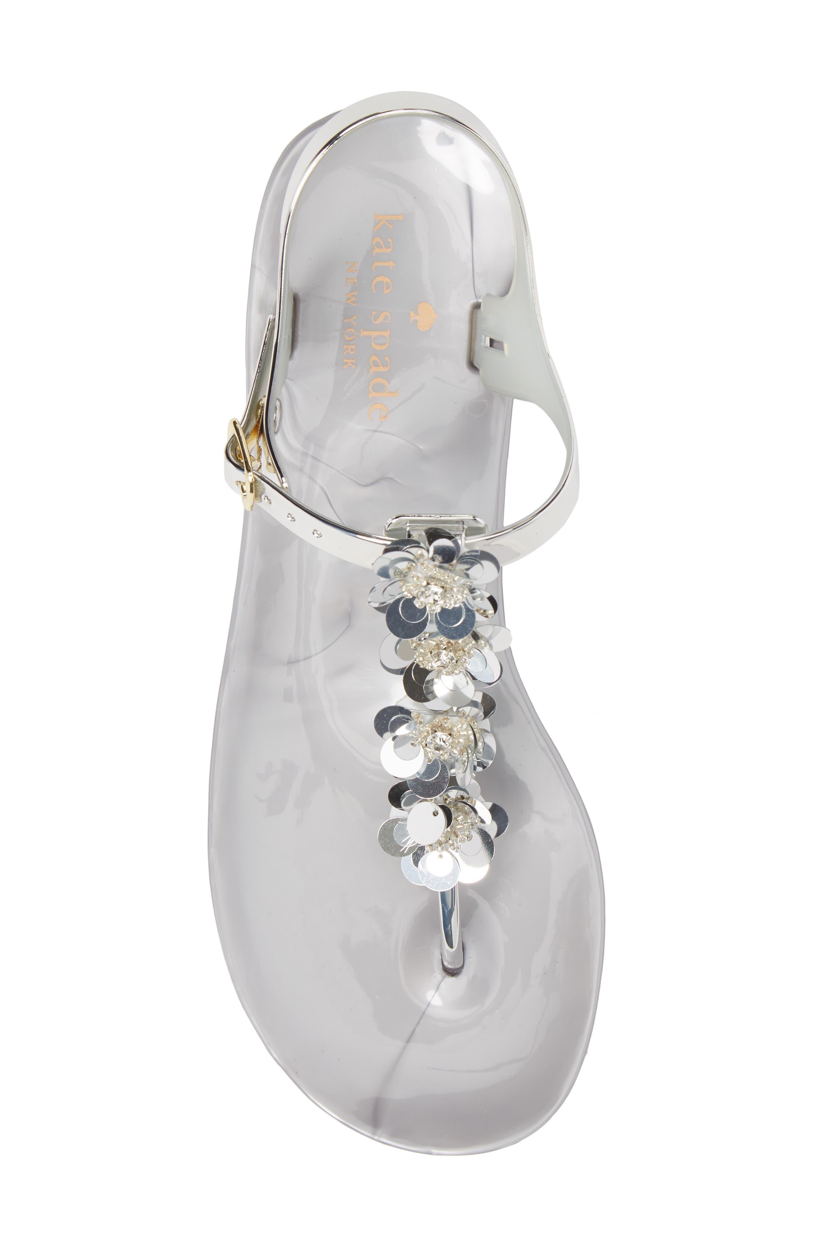 farrah thong sandal,                             Alternate thumbnail 5, color,                             Silver