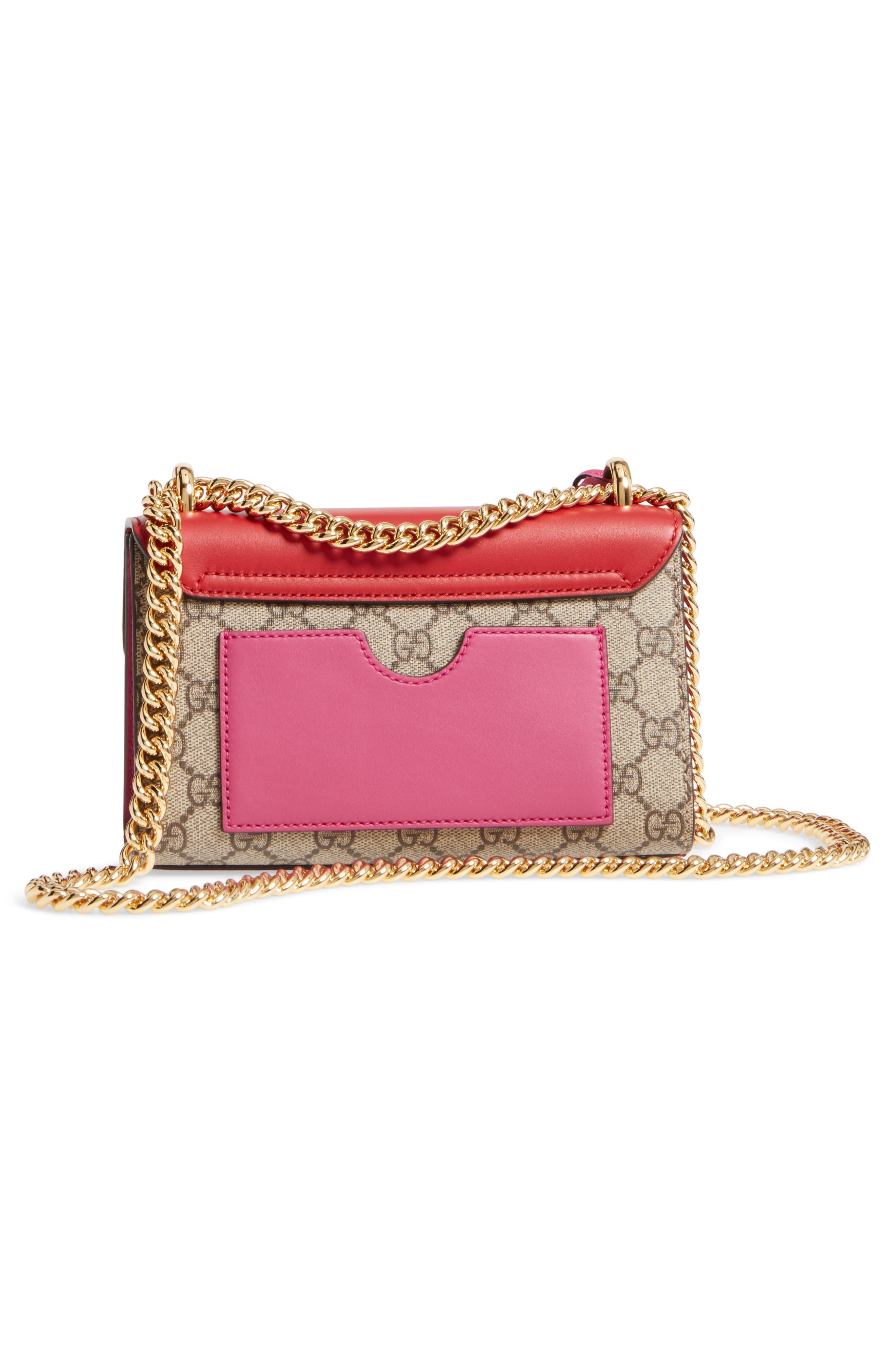 Small Padlock Shoulder Bag,                             Alternate thumbnail 2, color,                             Beige/ Hibiscus/ Roset