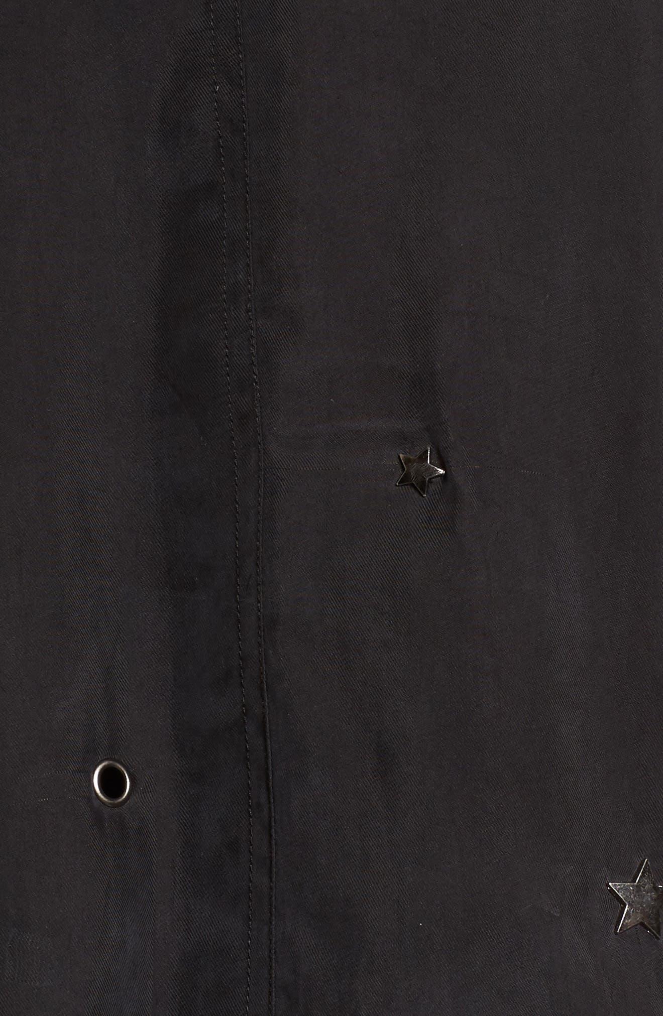 Ace Embellished Bomber Jacket,                             Alternate thumbnail 5, color,                             Black-Studded