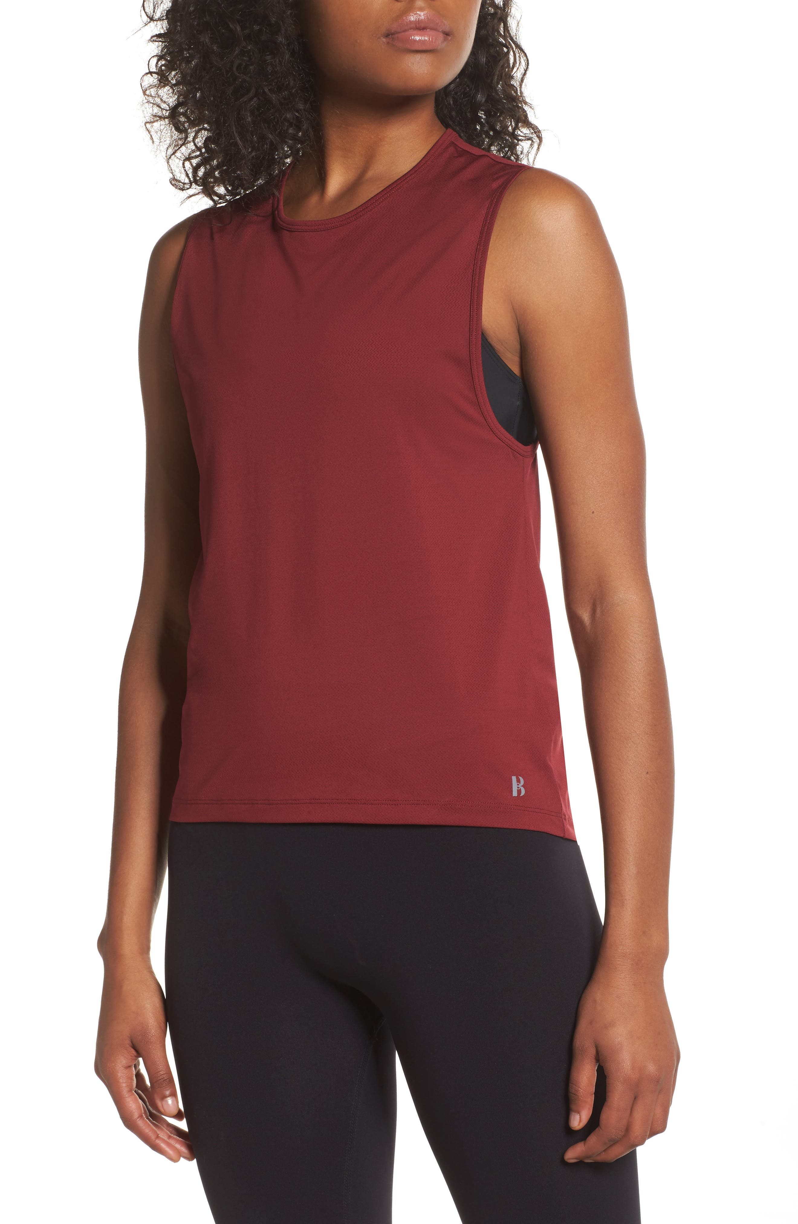 BoomBoom Athletica Muscle Tank,                         Main,                         color, Oxblood