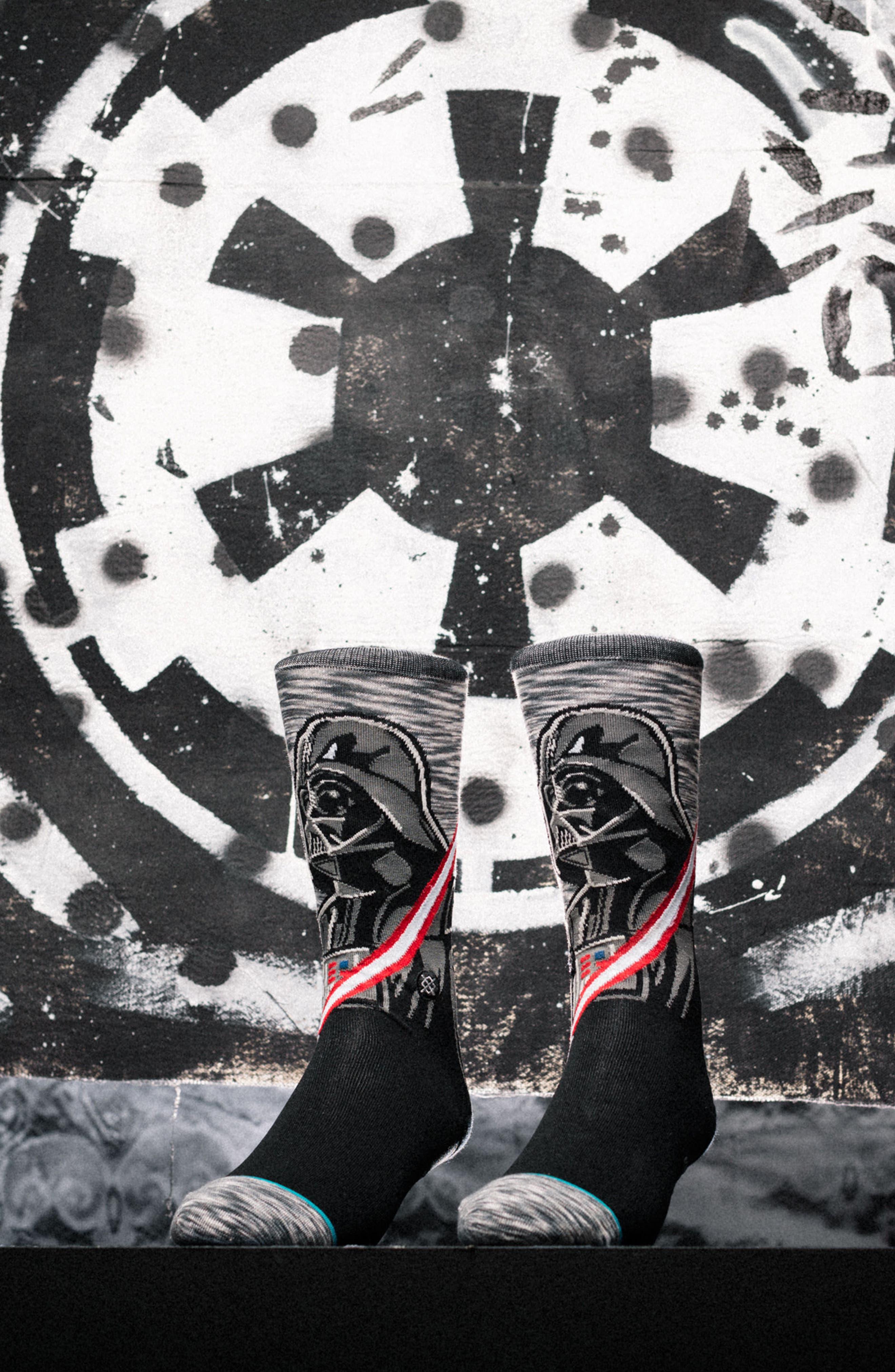 Star Wars<sup>™</sup> - Darkside Socks,                             Alternate thumbnail 2, color,                             Grey