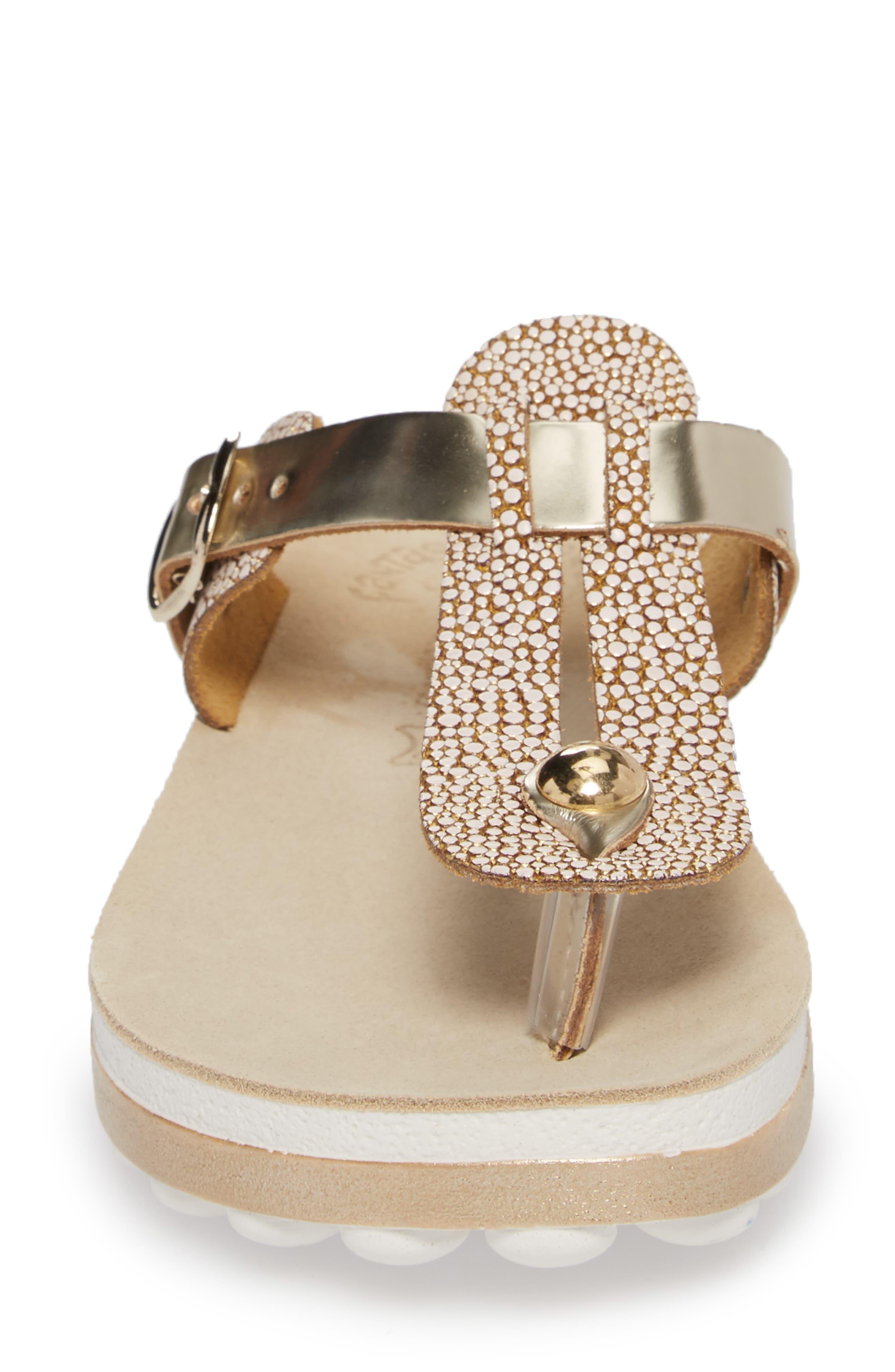 Mirabella Fantasy Sandal,                             Alternate thumbnail 4, color,                             Gold Caviar Leather