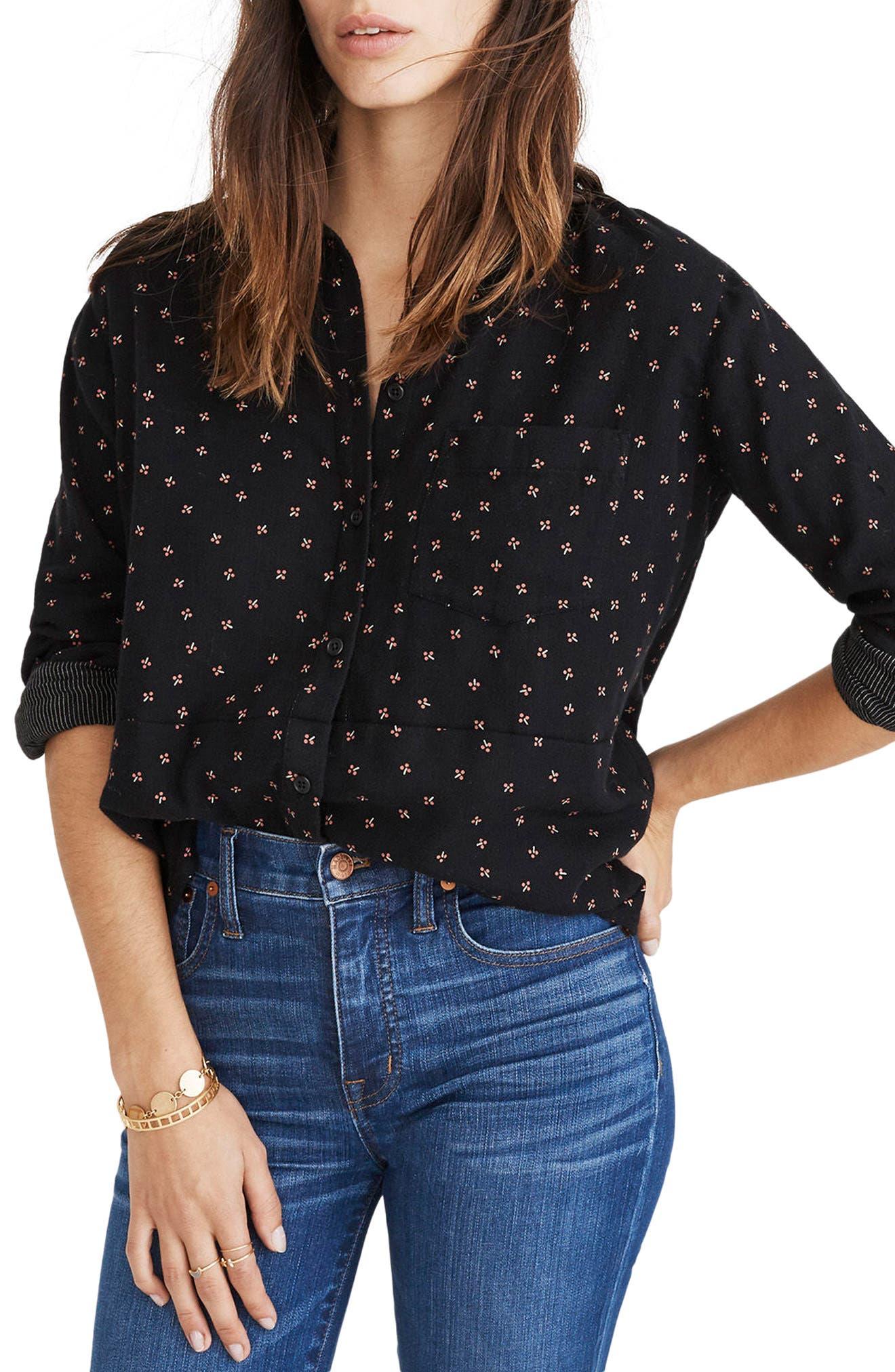 Madewell Double Face Oversize Ex-Boyfriend Shirt