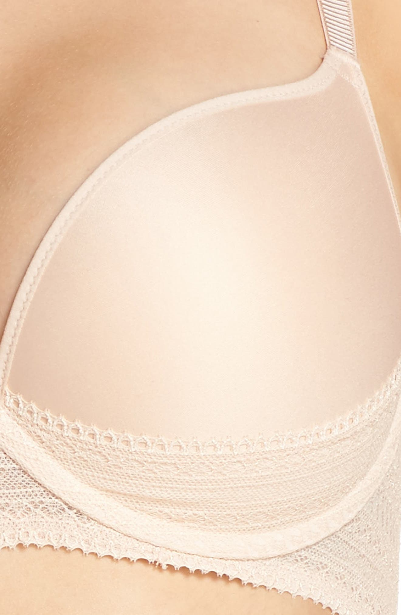 Cheeky Convertible Underwire Push-Up Bra,                             Alternate thumbnail 5, color,                             Nude Blush