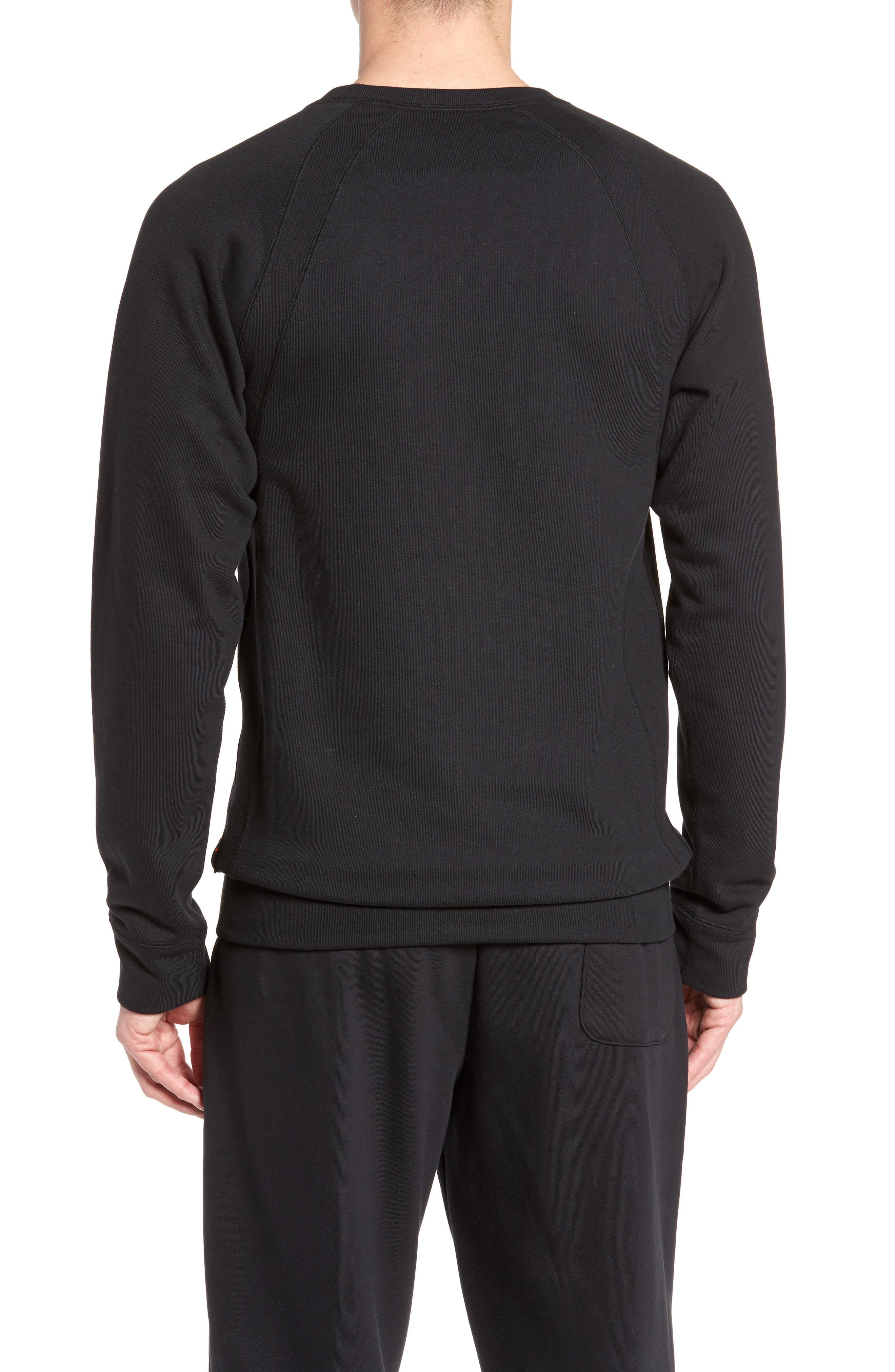 Jordan Sportswear Wings Pullover,                             Alternate thumbnail 2, color,                             Black/ Black