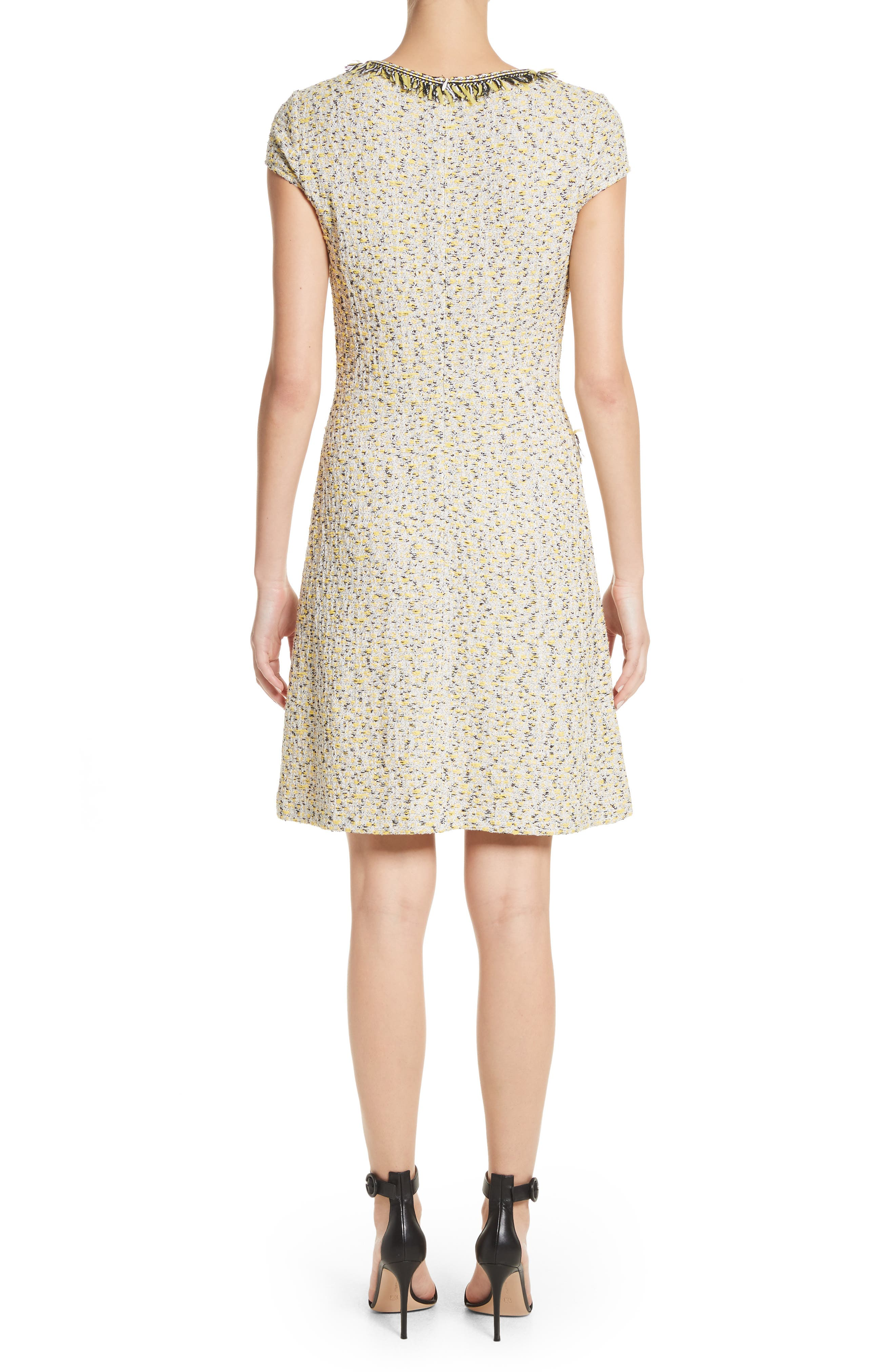 Romee Tweed Dress,                             Alternate thumbnail 2, color,                             Citron Multi