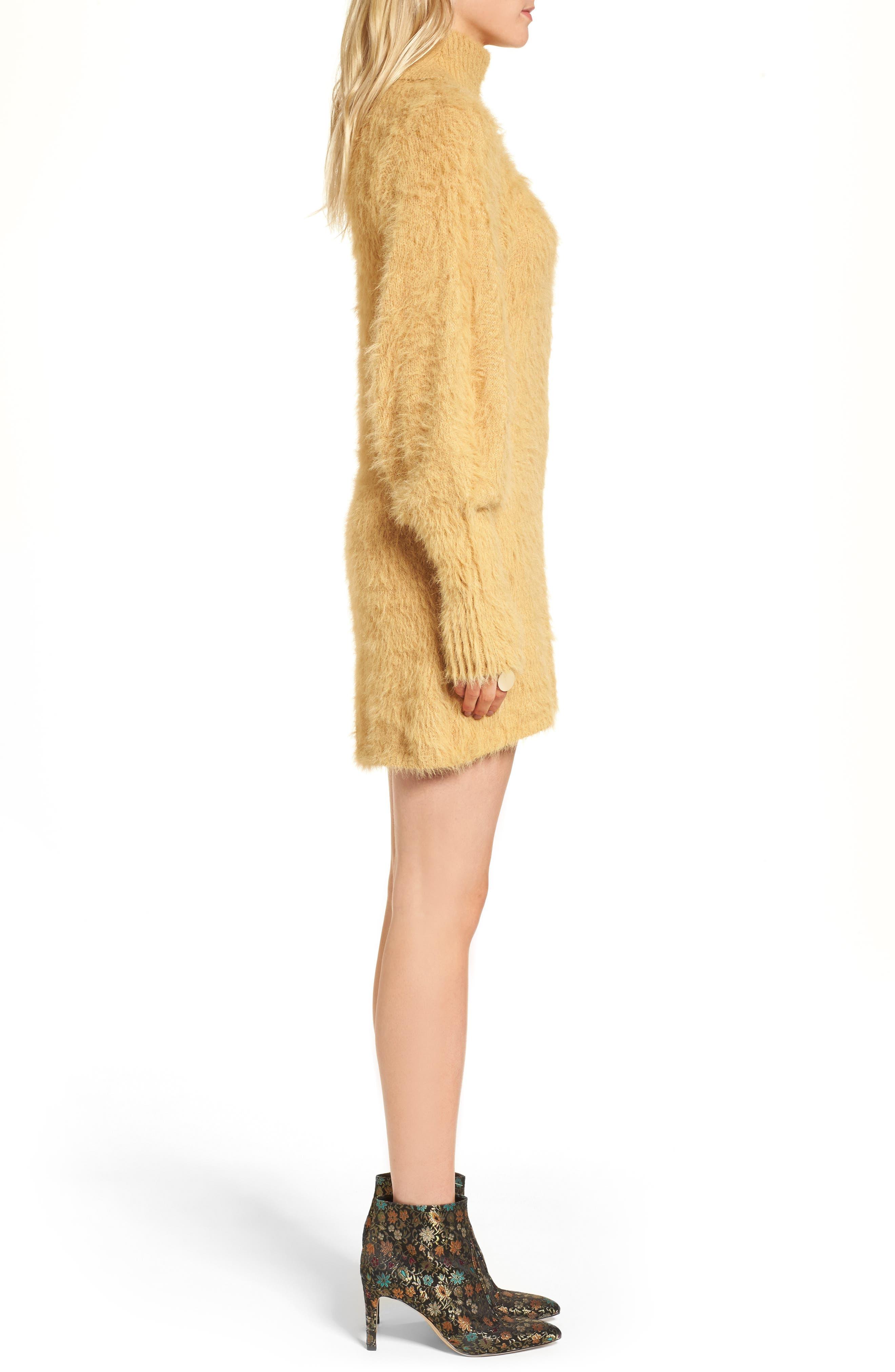 Alternate Image 4  - Free People Honey Turtleneck Minidress