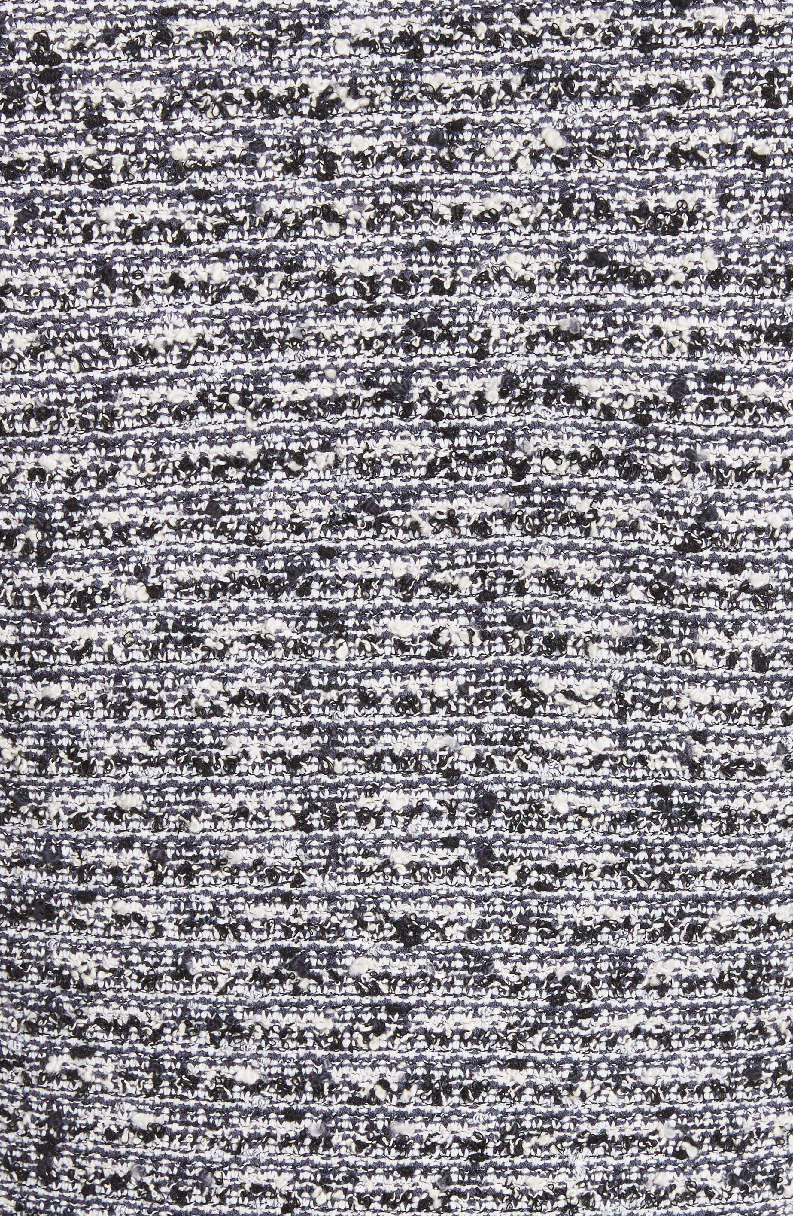 Micro Tweed Blazer,                             Alternate thumbnail 6, color,                             Caviar/ Bianco Multi