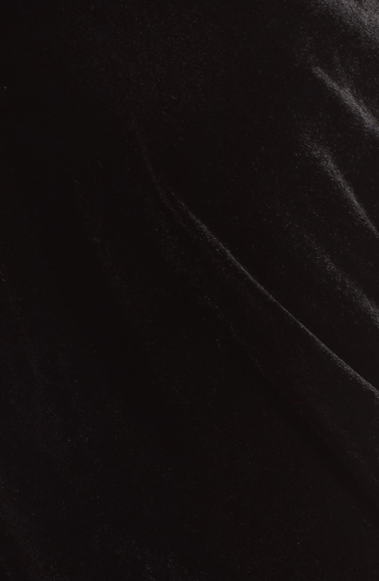 Kenneth Cole Velvet Drape Tank Top,                             Alternate thumbnail 5, color,                             Black