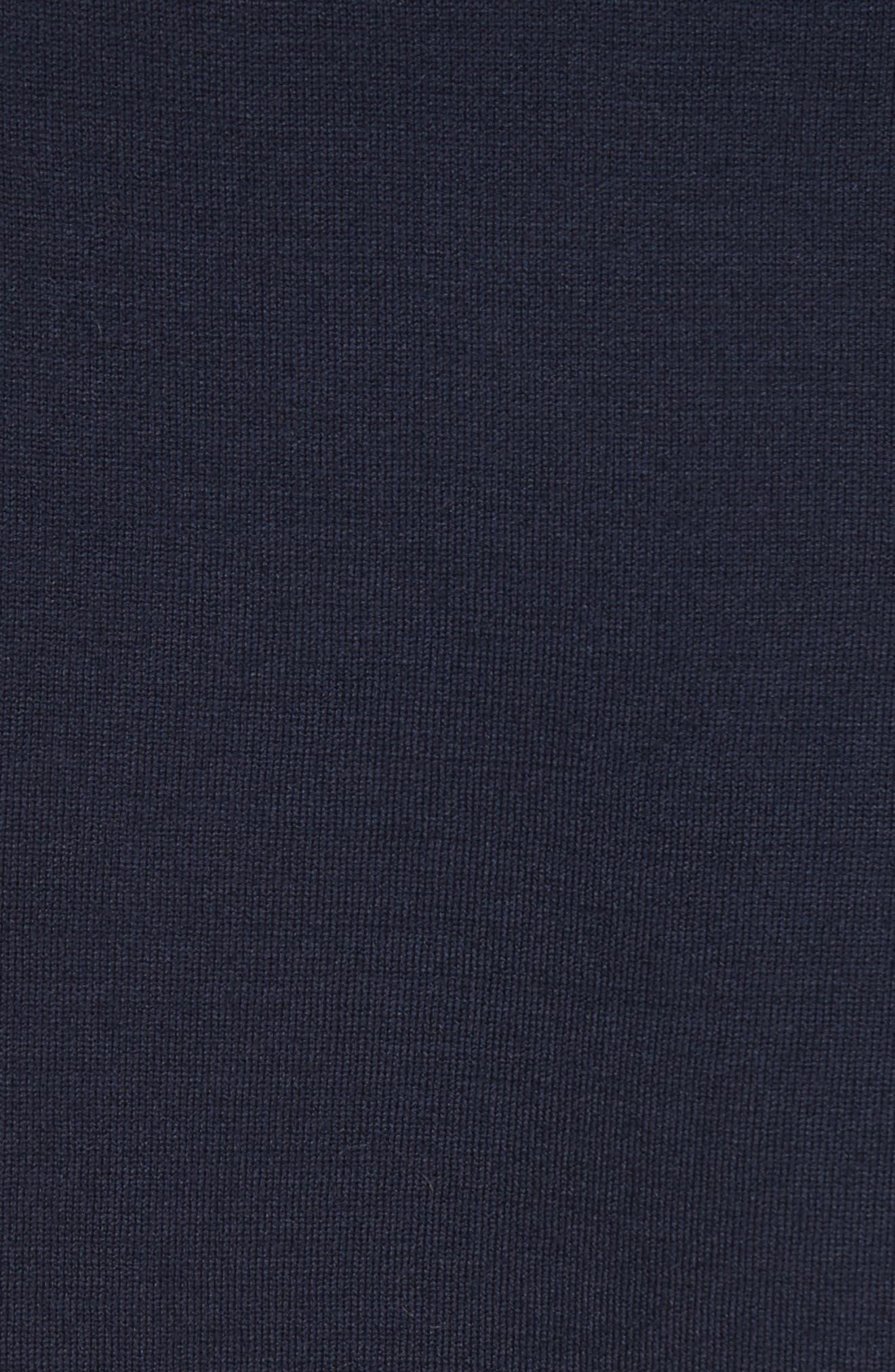 Ribbon Trim Milano Knit Cardigan,                             Alternate thumbnail 6, color,                             Navy