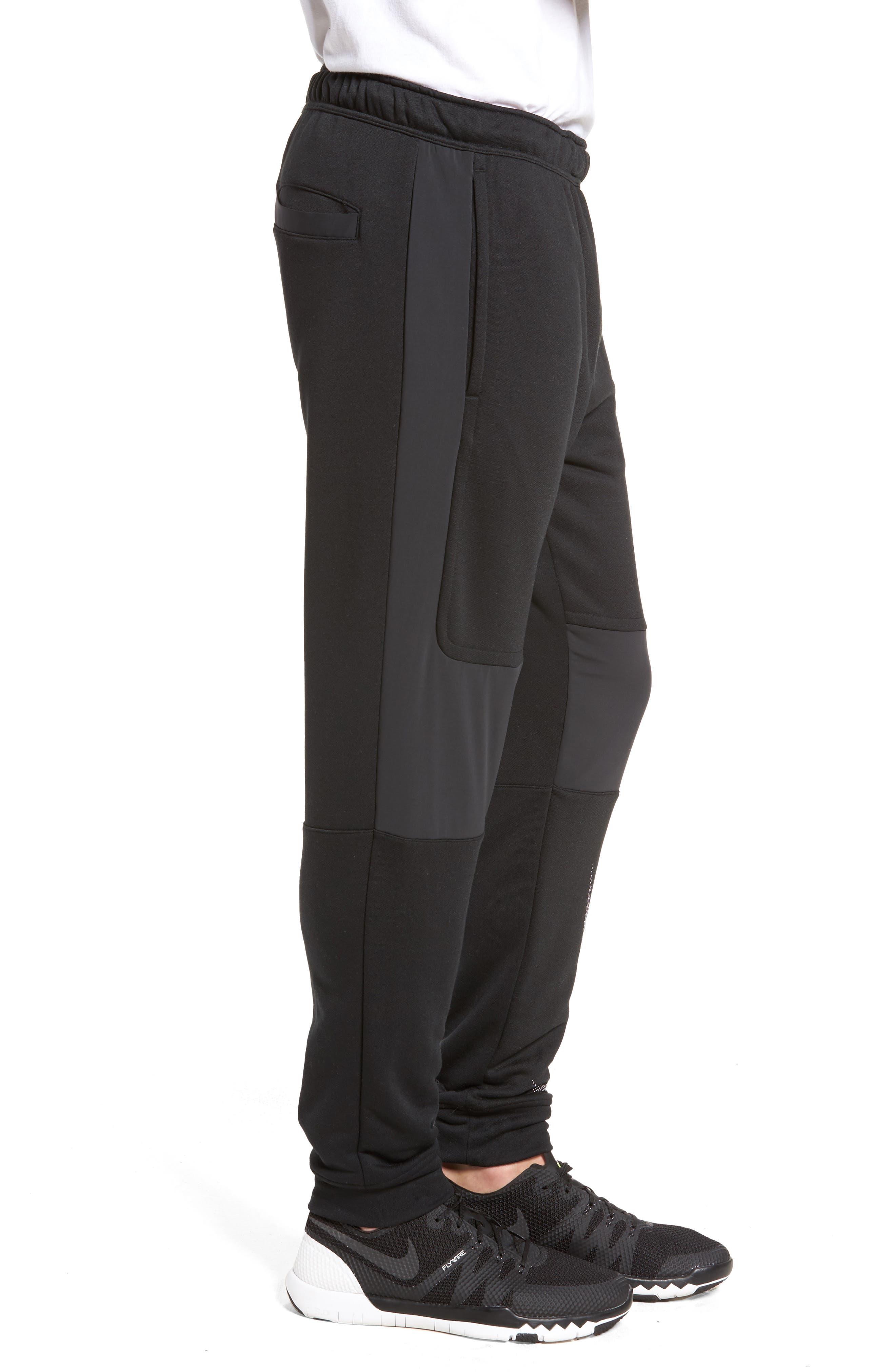 Training Project X Jogger Pants,                             Alternate thumbnail 3, color,                             Black/ Black/ White