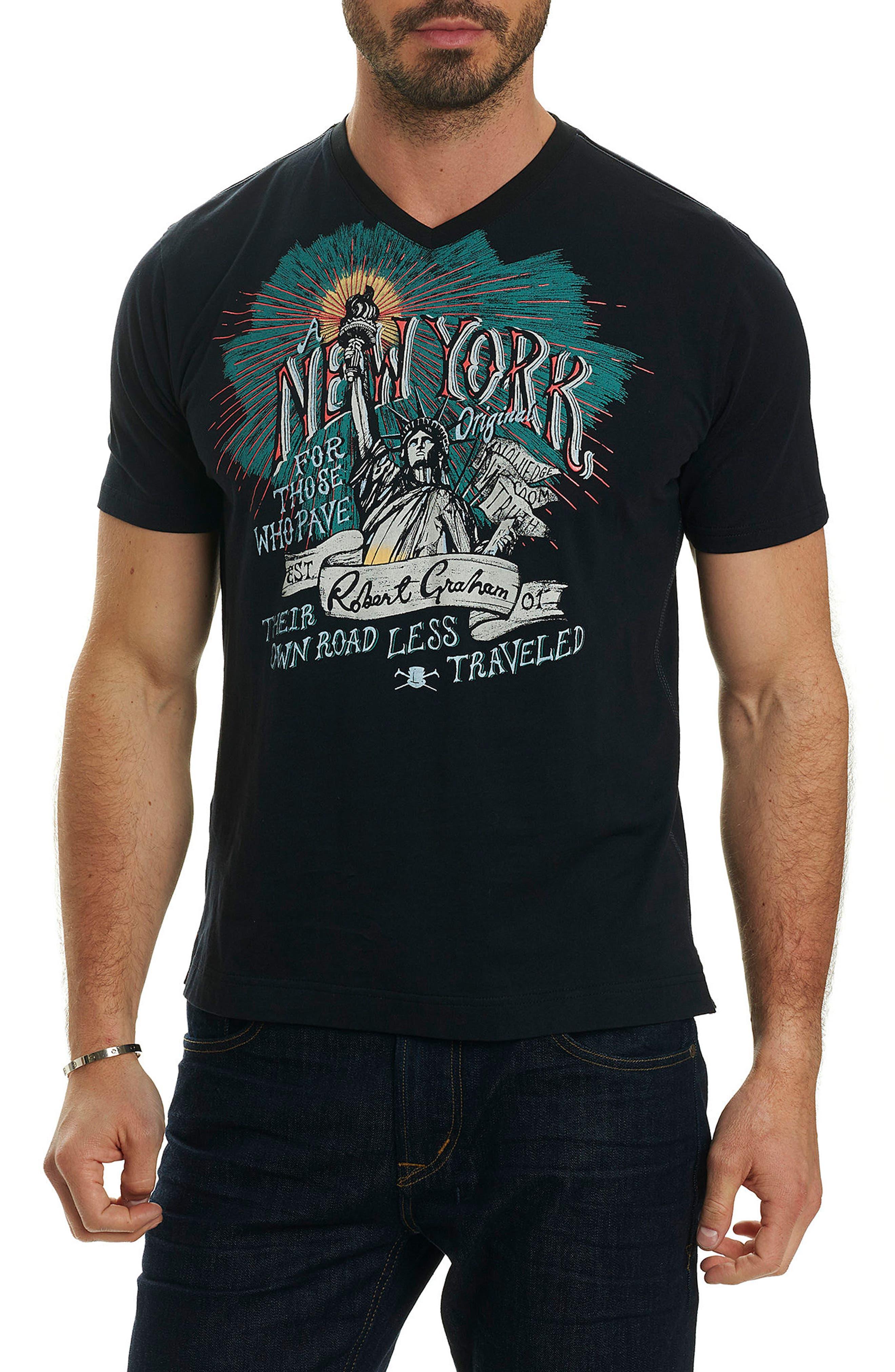 NY Original Graphic T-Shirt,                             Main thumbnail 1, color,                             Black