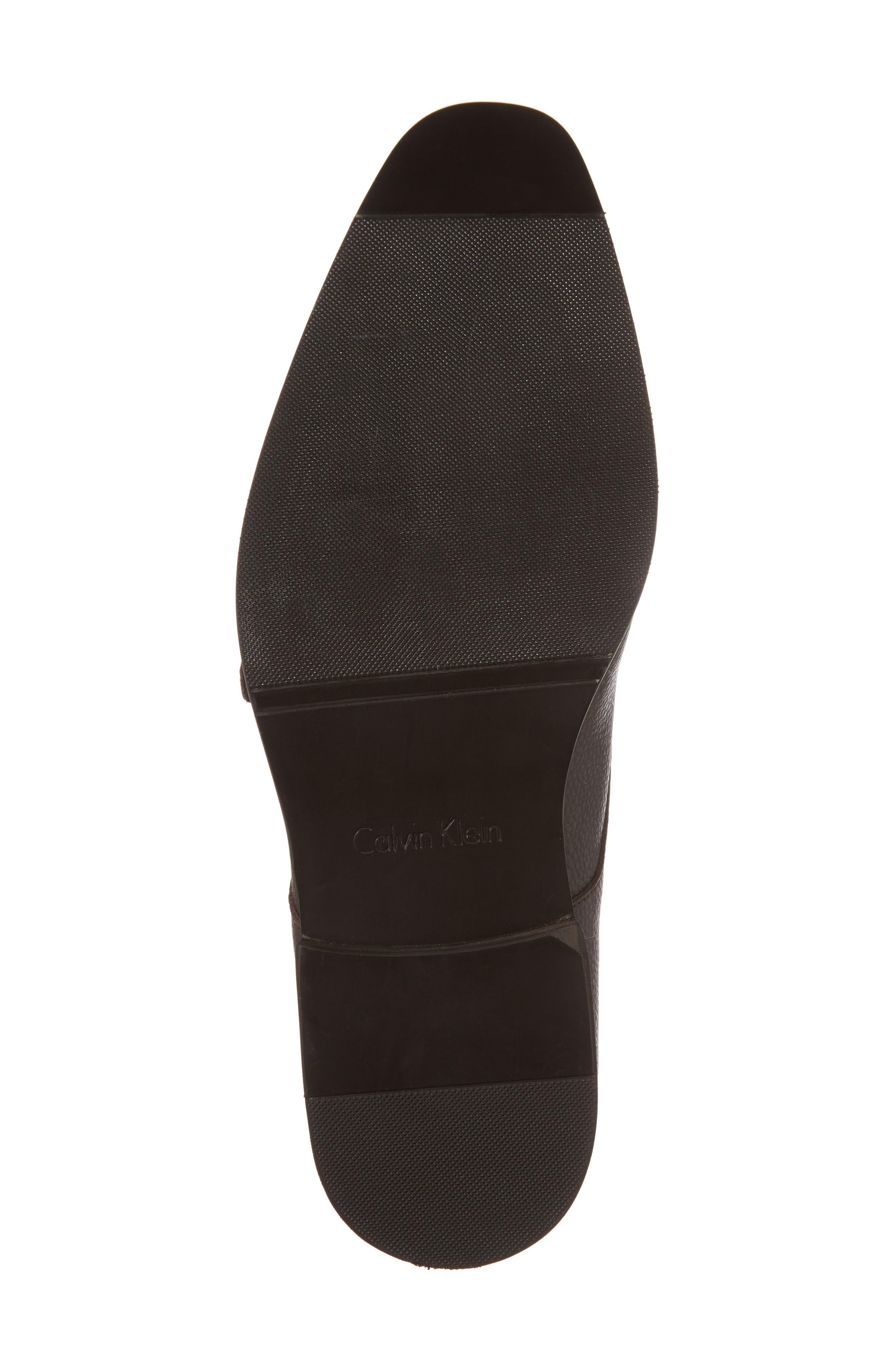 Robbie Double Monk Strap Shoe,                             Alternate thumbnail 6, color,                             Dark Brown Leather