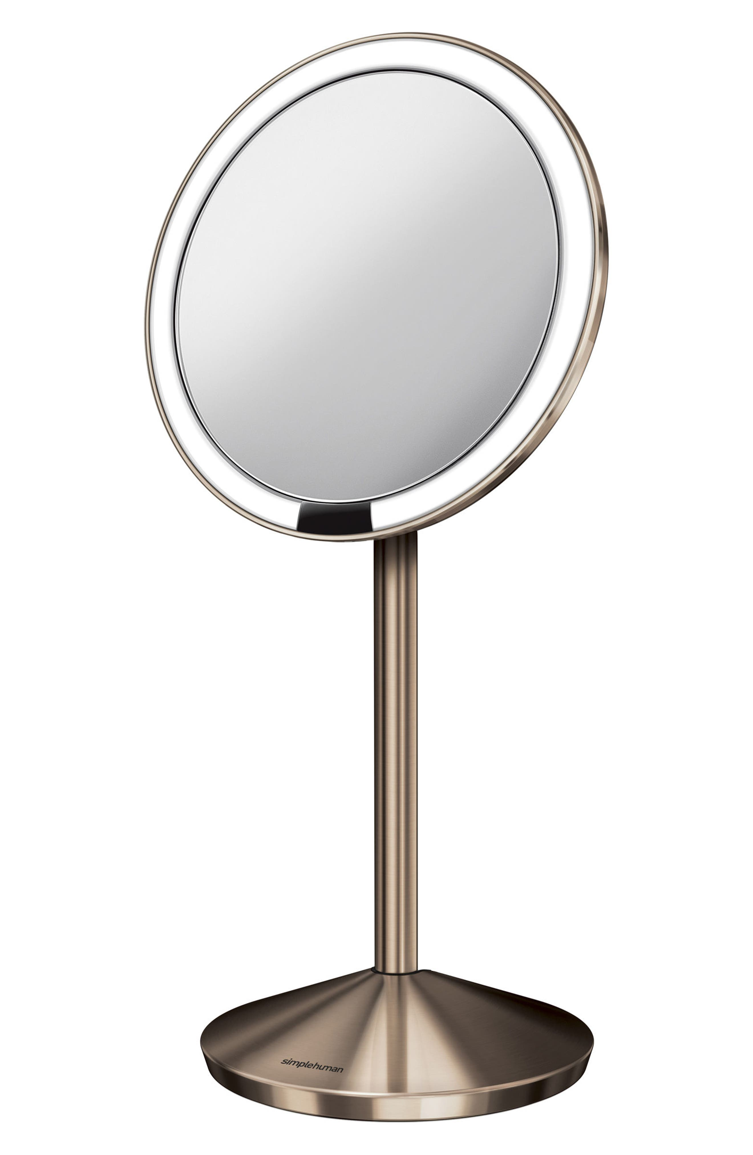 Mini Countertop Sensor Makeup Mirror,                             Main thumbnail 2, color,                             Rose Gold