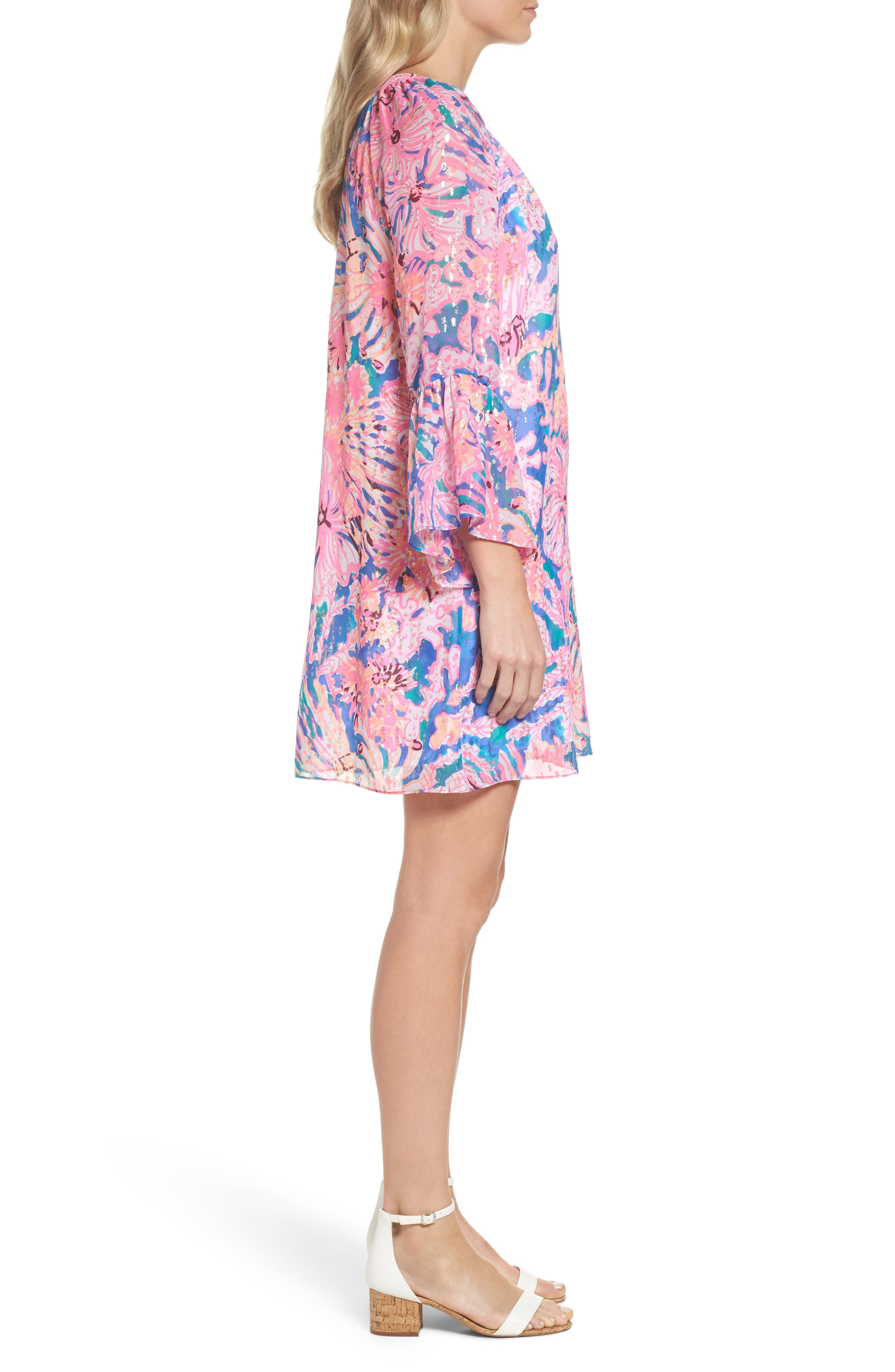 Matilda Tunic Dress,                             Alternate thumbnail 3, color,                             Multi Swirling Seadream
